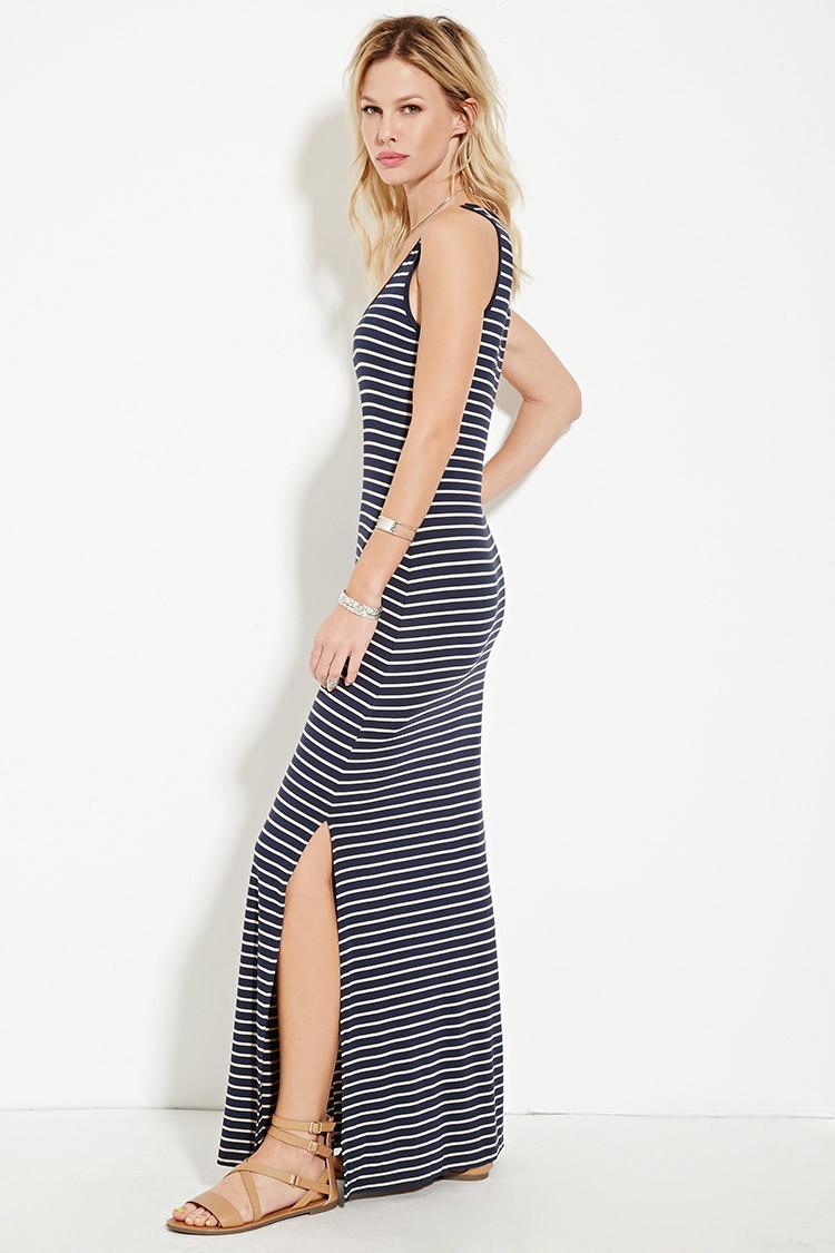 blue and white striped dress forever 21 wwwimgkidcom