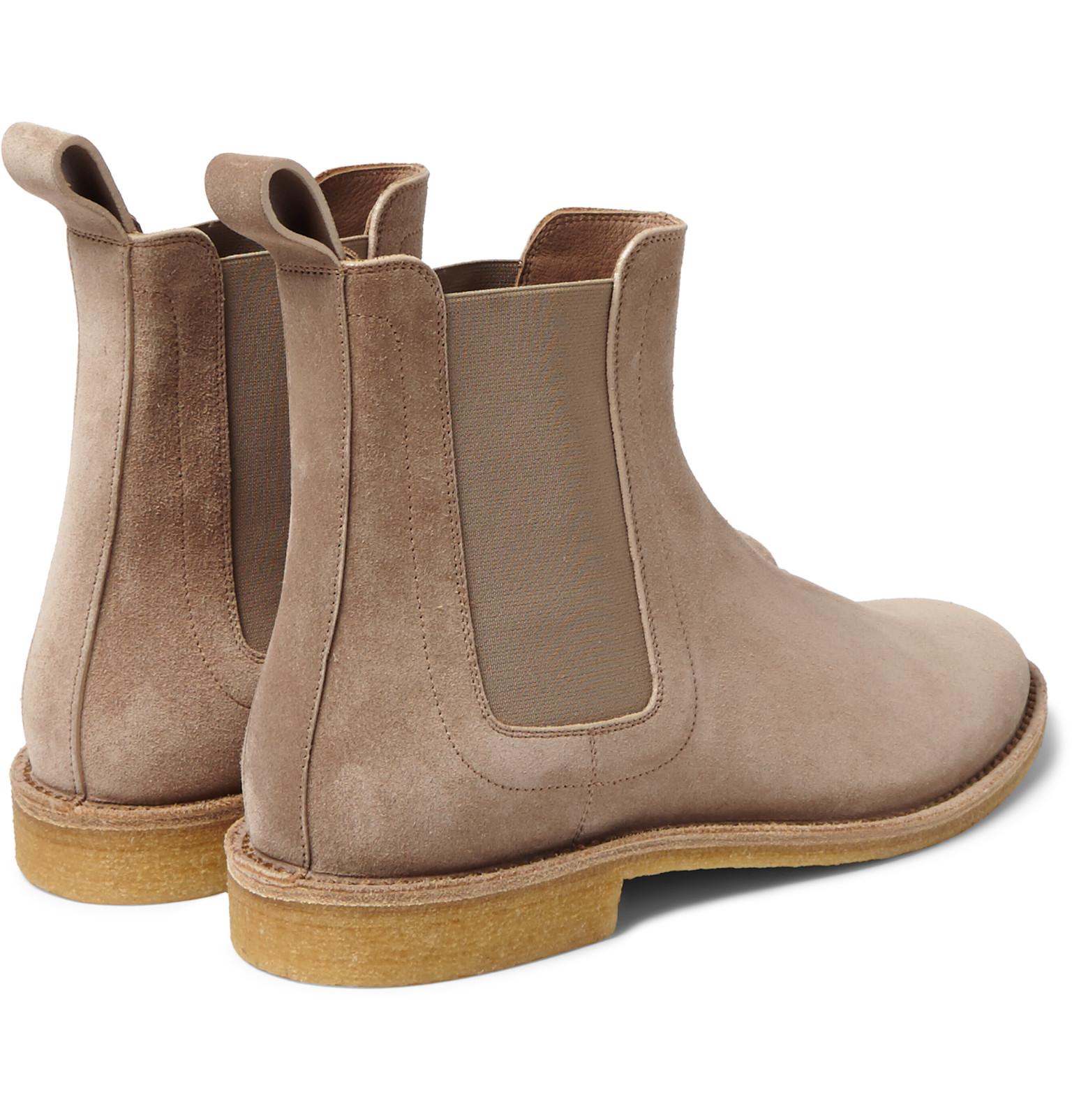 bottega veneta suede chelsea boots in natural for men lyst. Black Bedroom Furniture Sets. Home Design Ideas