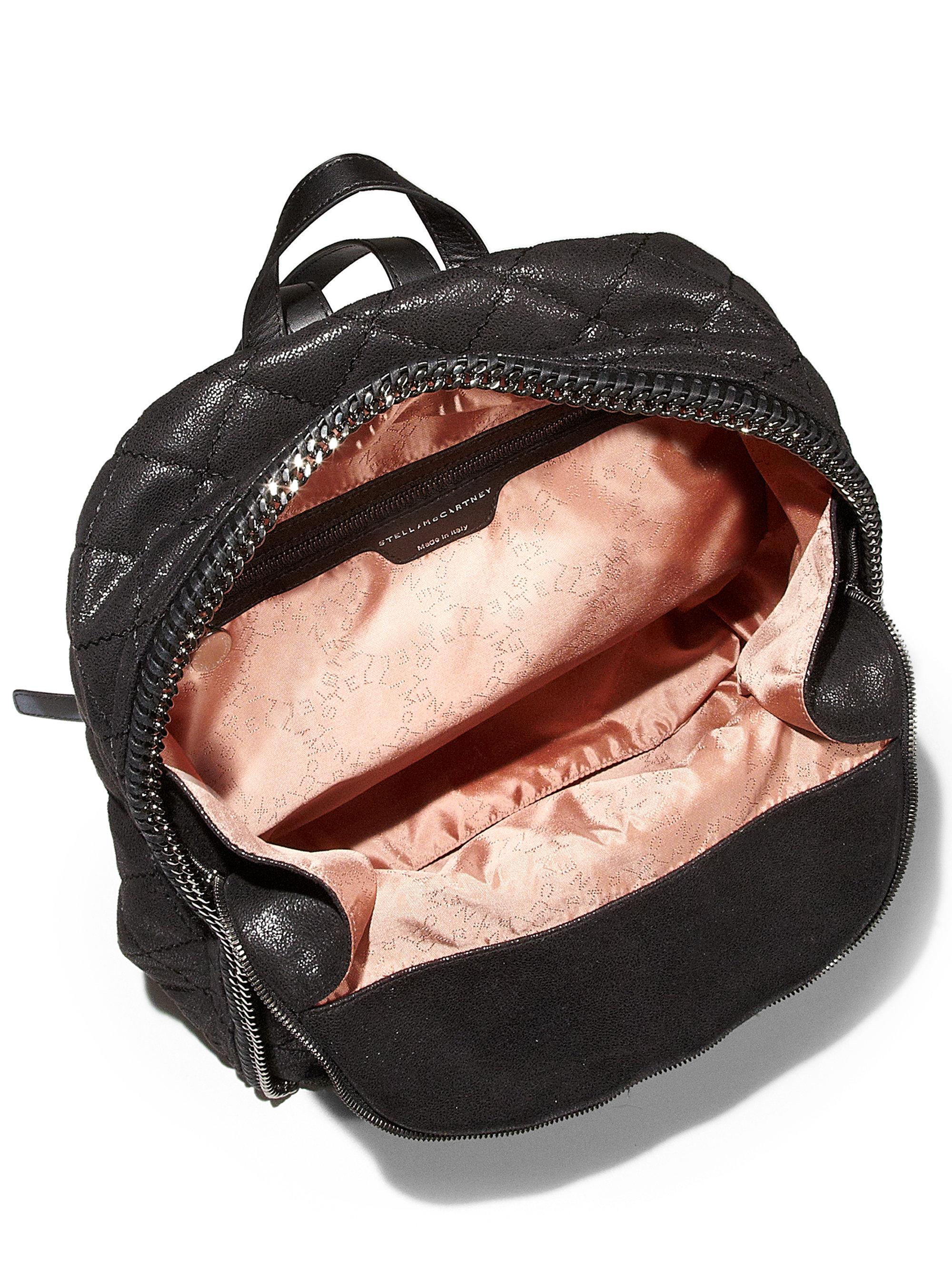 stella mccartney quilted backpack in black lyst. Black Bedroom Furniture Sets. Home Design Ideas