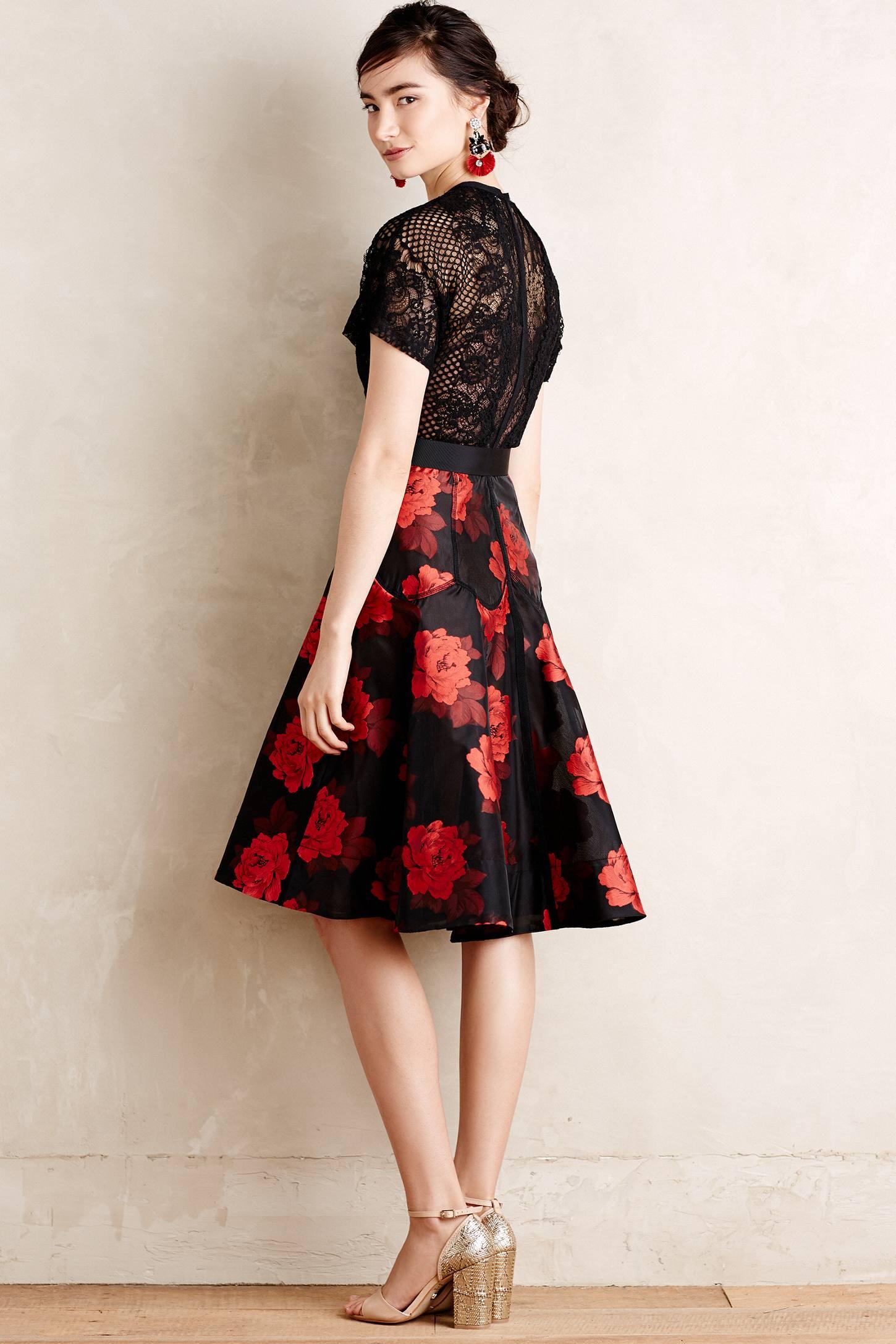5d0c131080f8 Byron Lars Beauty Mark Castilian Rose Dress in Red - Lyst