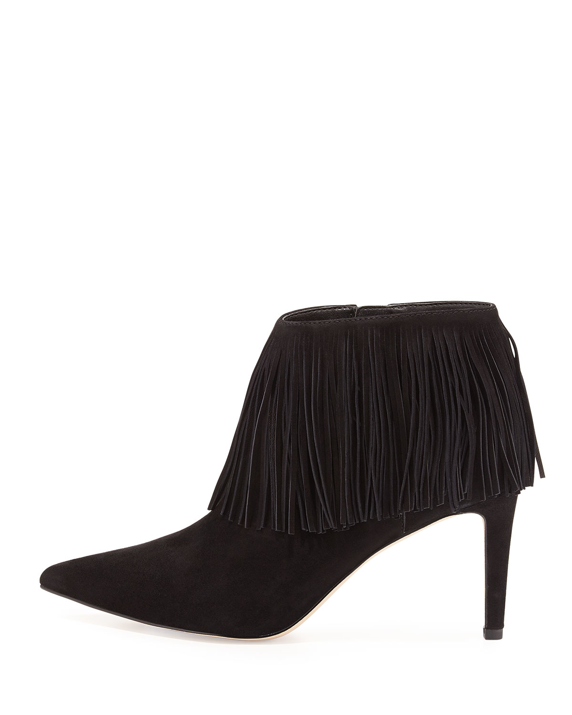 0d5609a6c Lyst - Sam Edelman Kandice Fringe Ankle Boot in Black