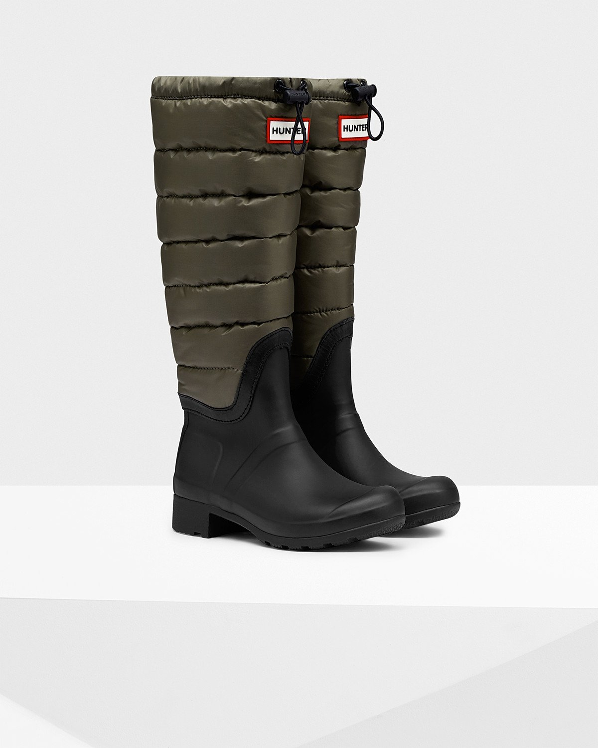 (YTKCZZXJPW) Original Lace Up (Swamp Green) Womens Rain Boots Hunter Boots