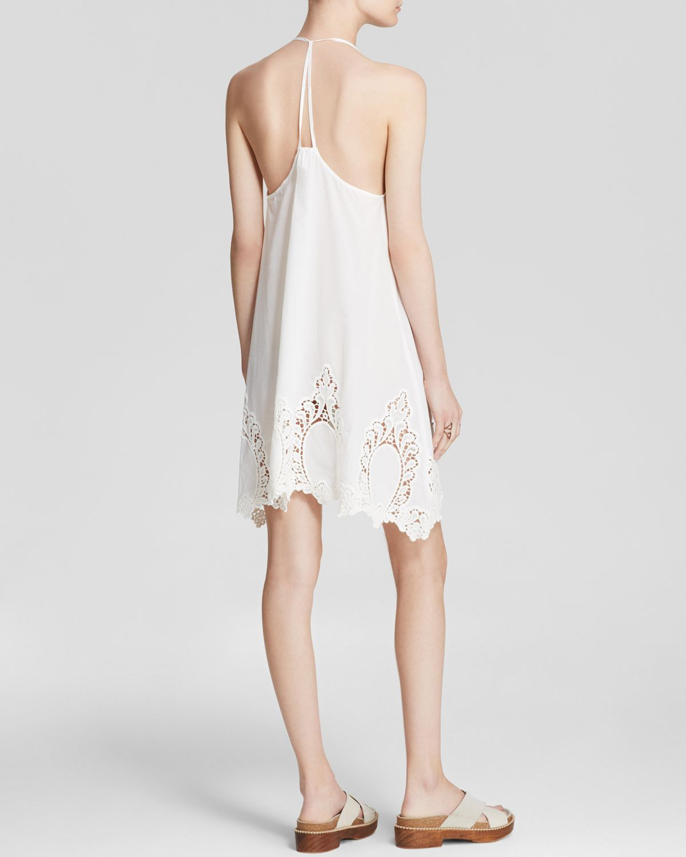 Free People Cotton Eyelet Easy Living Slip Dress In White