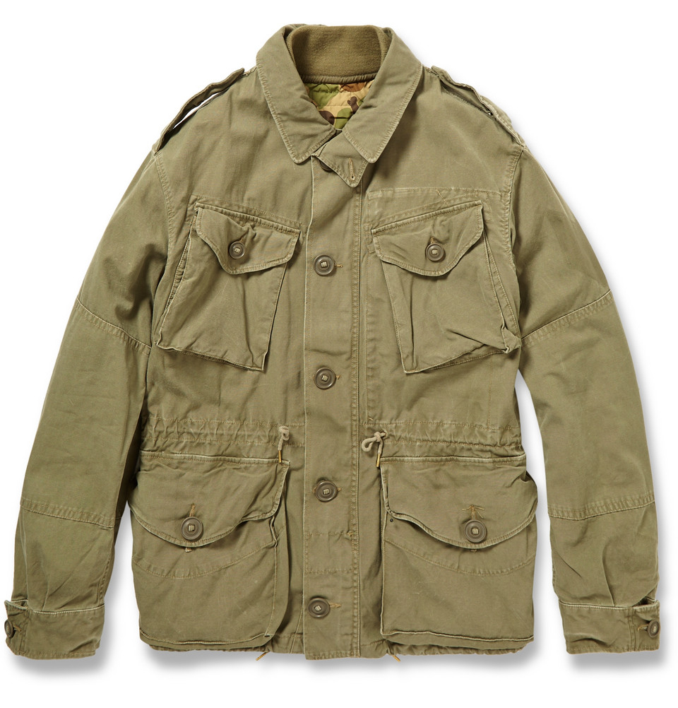 lyst polo ralph lauren cotton combat jacket in green for men. Black Bedroom Furniture Sets. Home Design Ideas