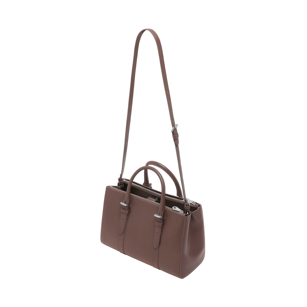Lyst - Mulberry Dark Taupe Leather Small  bayswater  Double Zip ... 8cfcd861b0700
