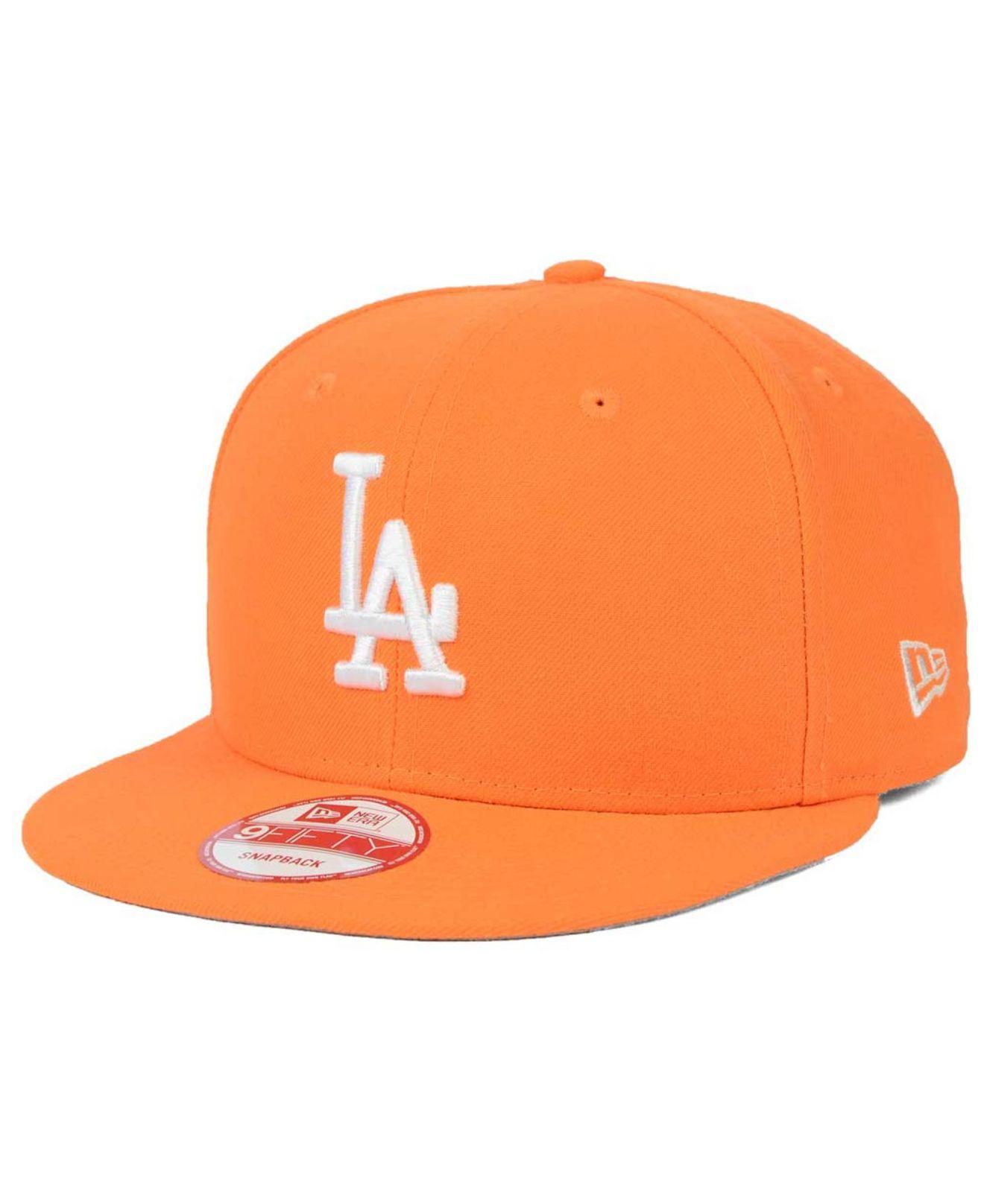 ... authentic lyst ktz los angeles dodgers c dub 9fifty snapback cap in  orange 2fcfe 27640 8a44c146b73