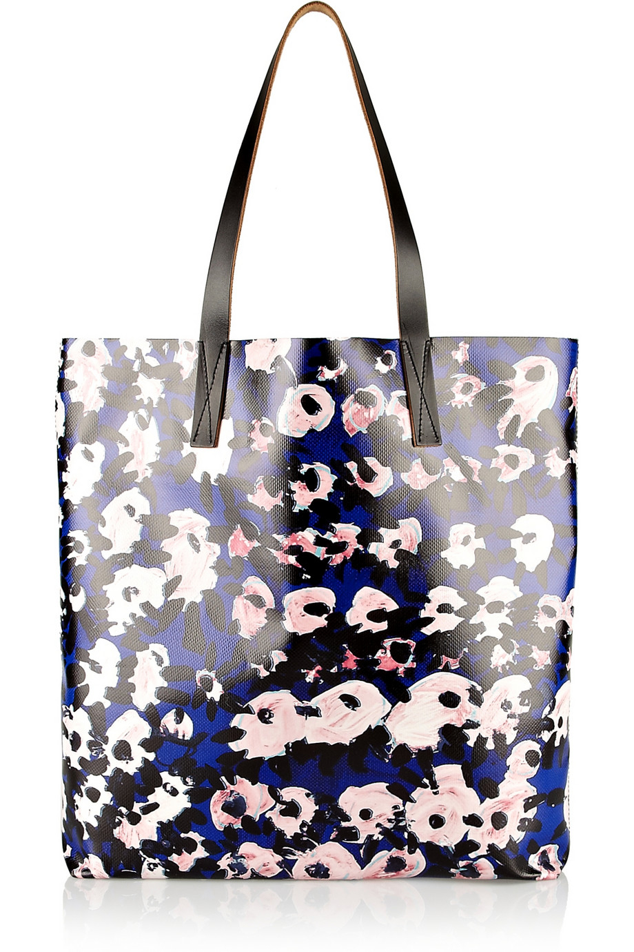Marni Printed Coated-Canvas Tote in Blue