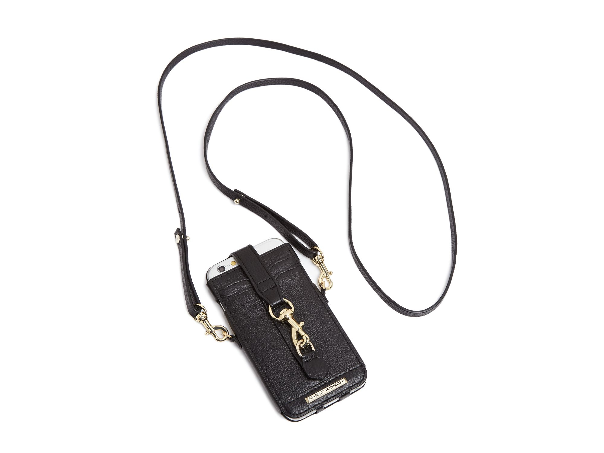 buy popular 56f28 8f71f Rebecca Minkoff Black Dogclip Crossbody Iphone 6 Case