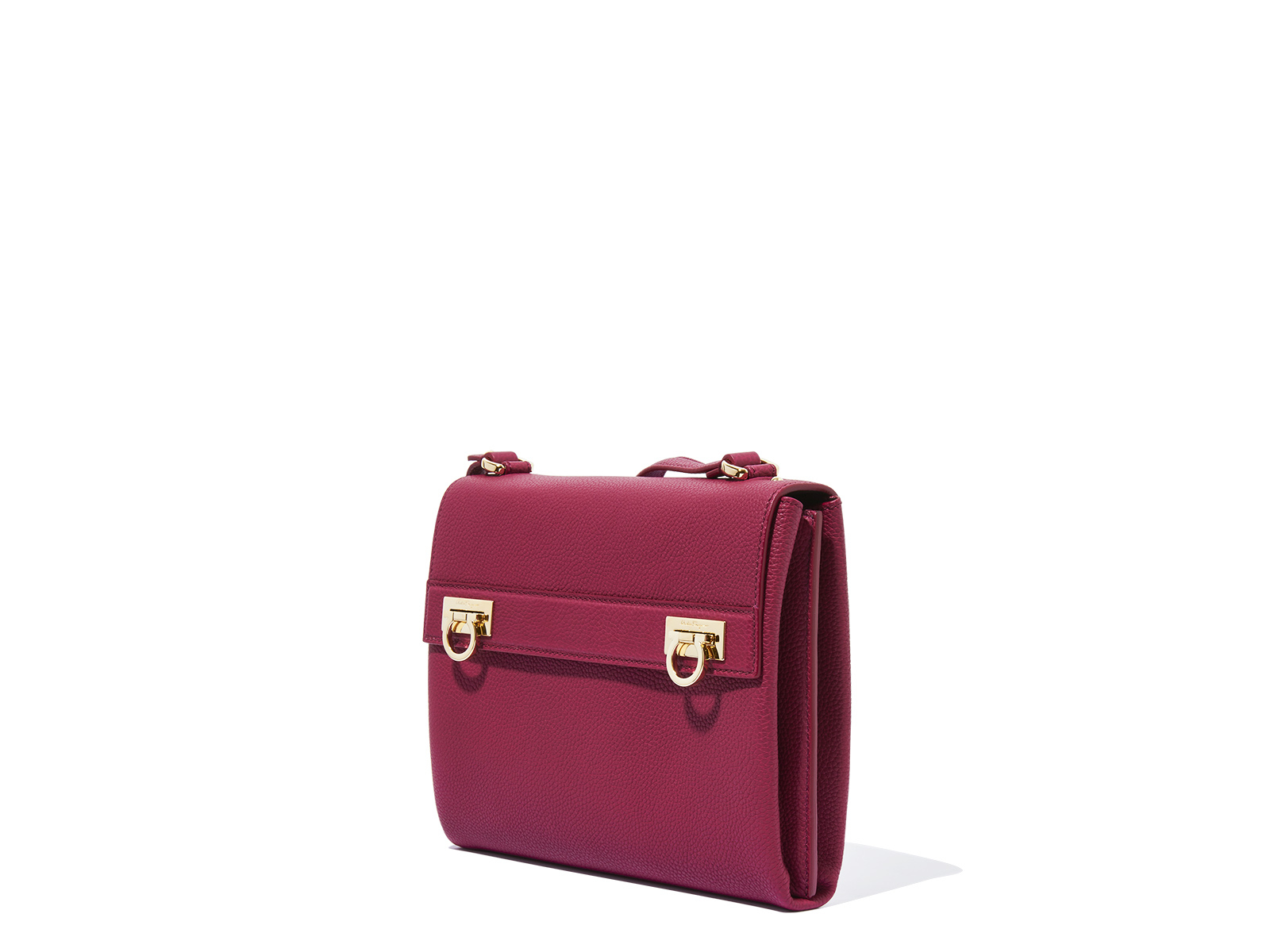 Ferragamo Gancio Medium Messenger Bag in Red (Wine) - Lyst
