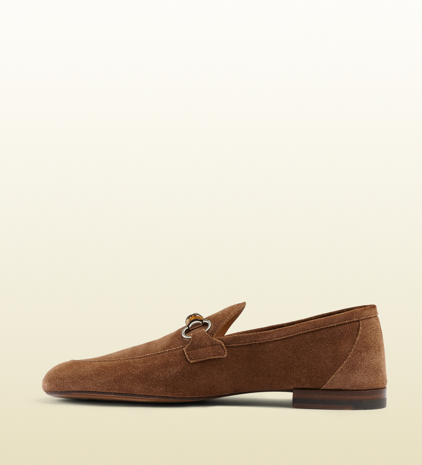 1798a9c66f7 Gucci Suede Bamboo Horsebit Loafer in Brown for Men - Lyst