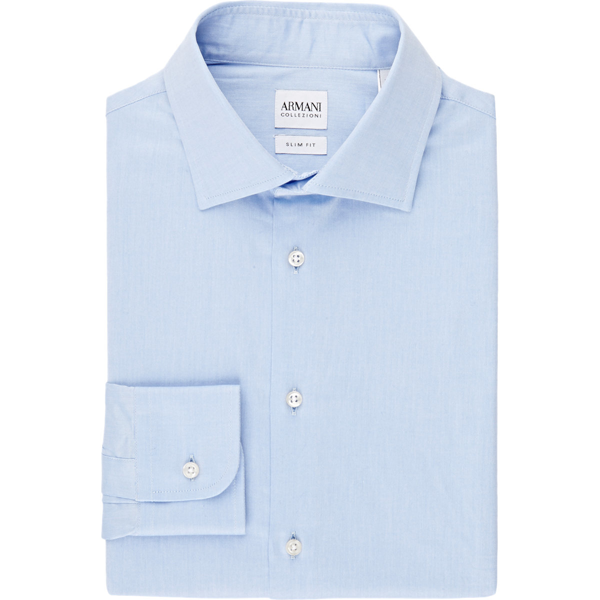 armani mens slimfit dress shirt in blue for men lyst