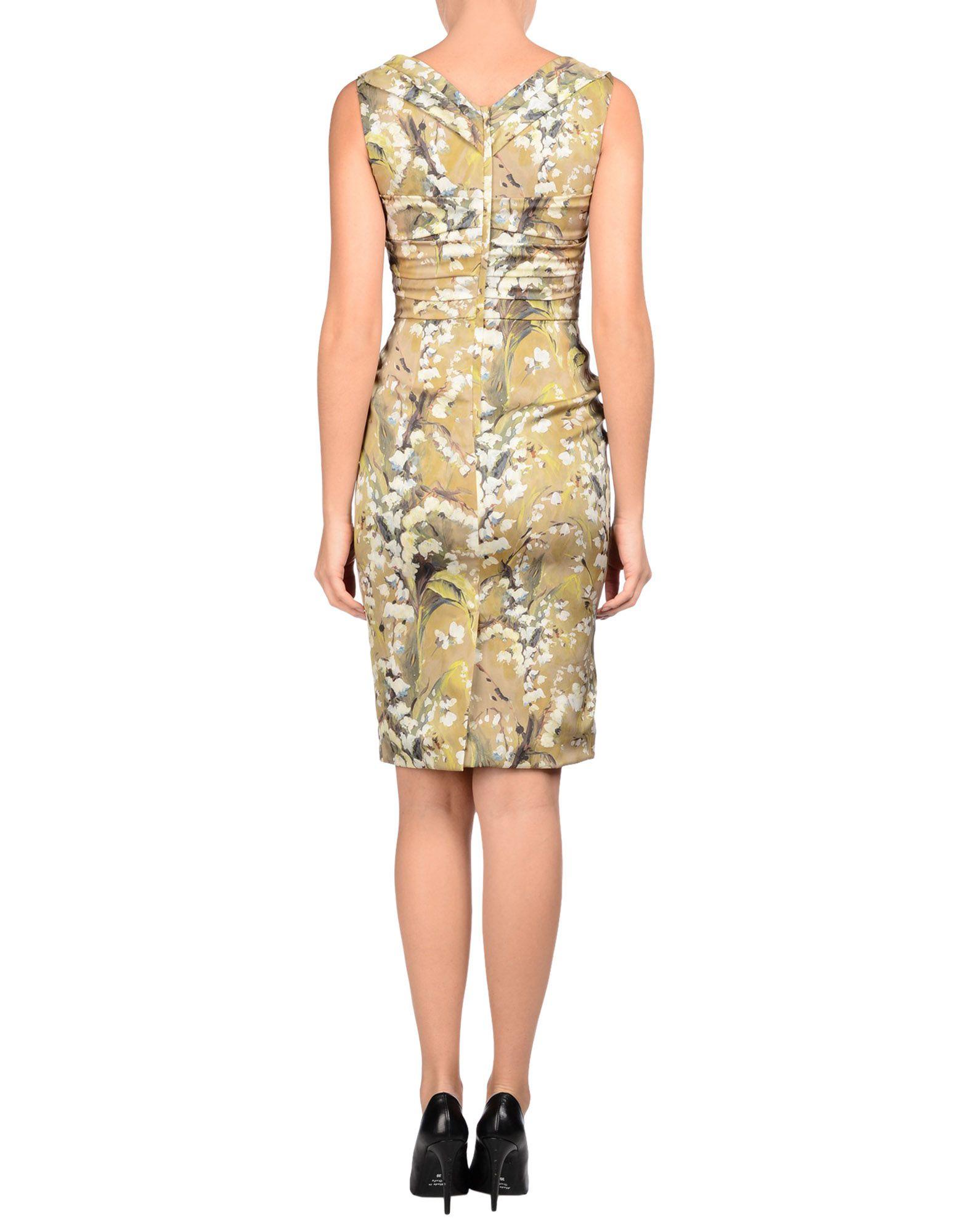 c33671c539e Lyst - Dolce   Gabbana Short Dress in Green