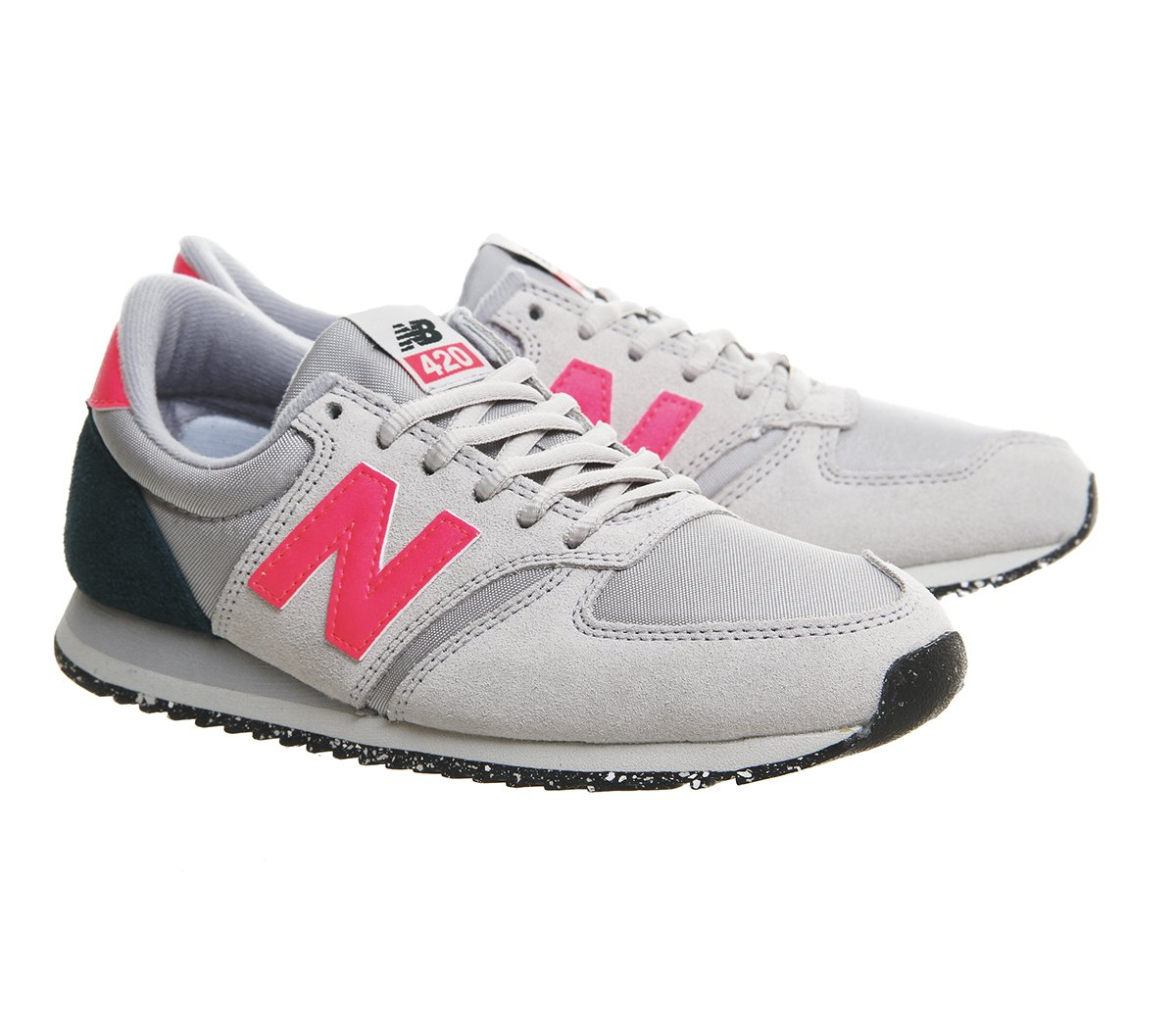 new balance grey and pink 420 velcro trainer