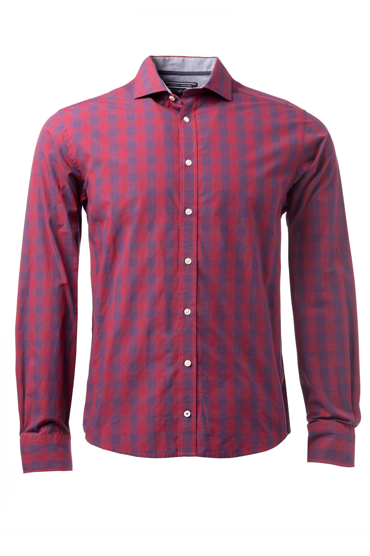Tommy hilfiger otmar check classic fit long sleeve shirt for Tommy hilfiger vintage fit shirt