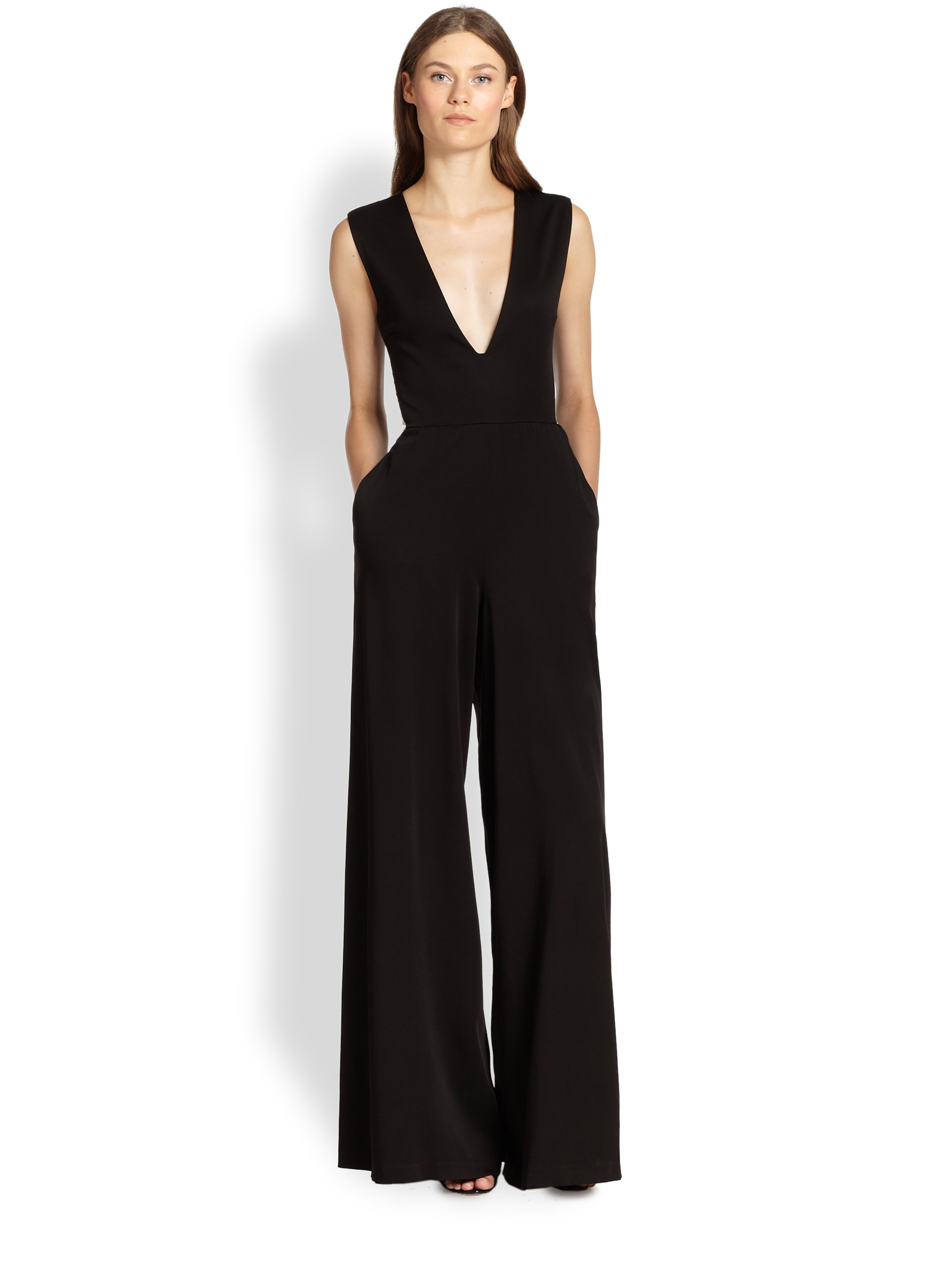 8d463a8a8c7 Lyst - Alice + Olivia Londyn Wide-leg Jumpsuit in Black