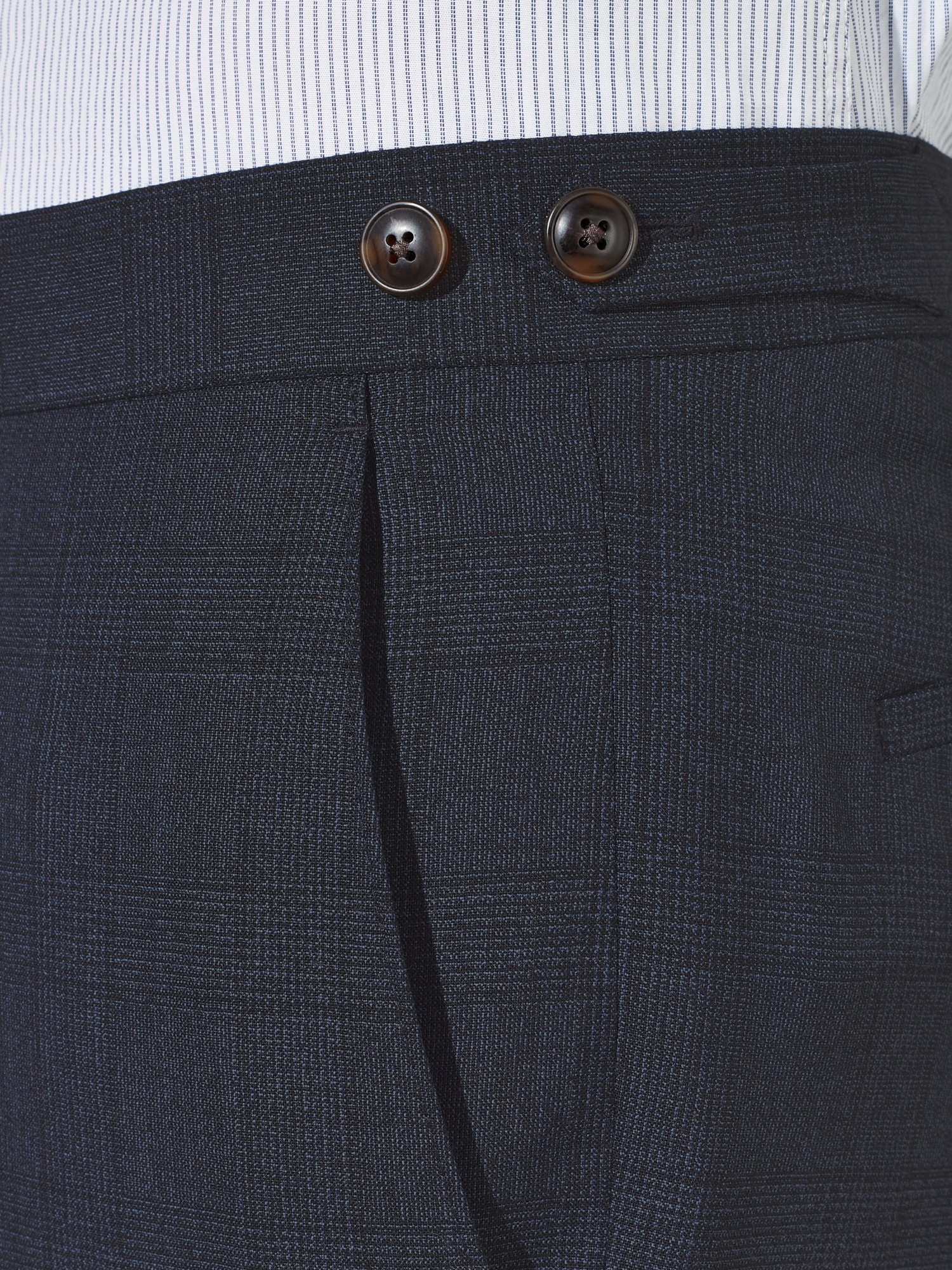 John Lewis Tailored Chepstow Twist Check Suit Trousers in Grey for Men