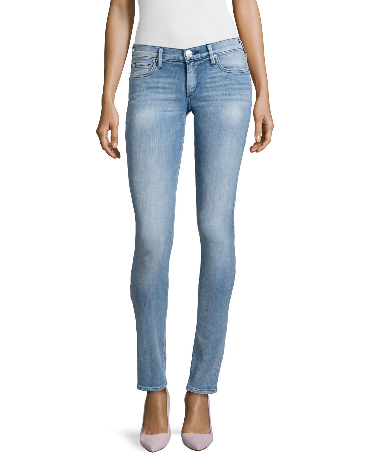 true religion stella low rise skinny jeans in blue nu drifter lyst. Black Bedroom Furniture Sets. Home Design Ideas
