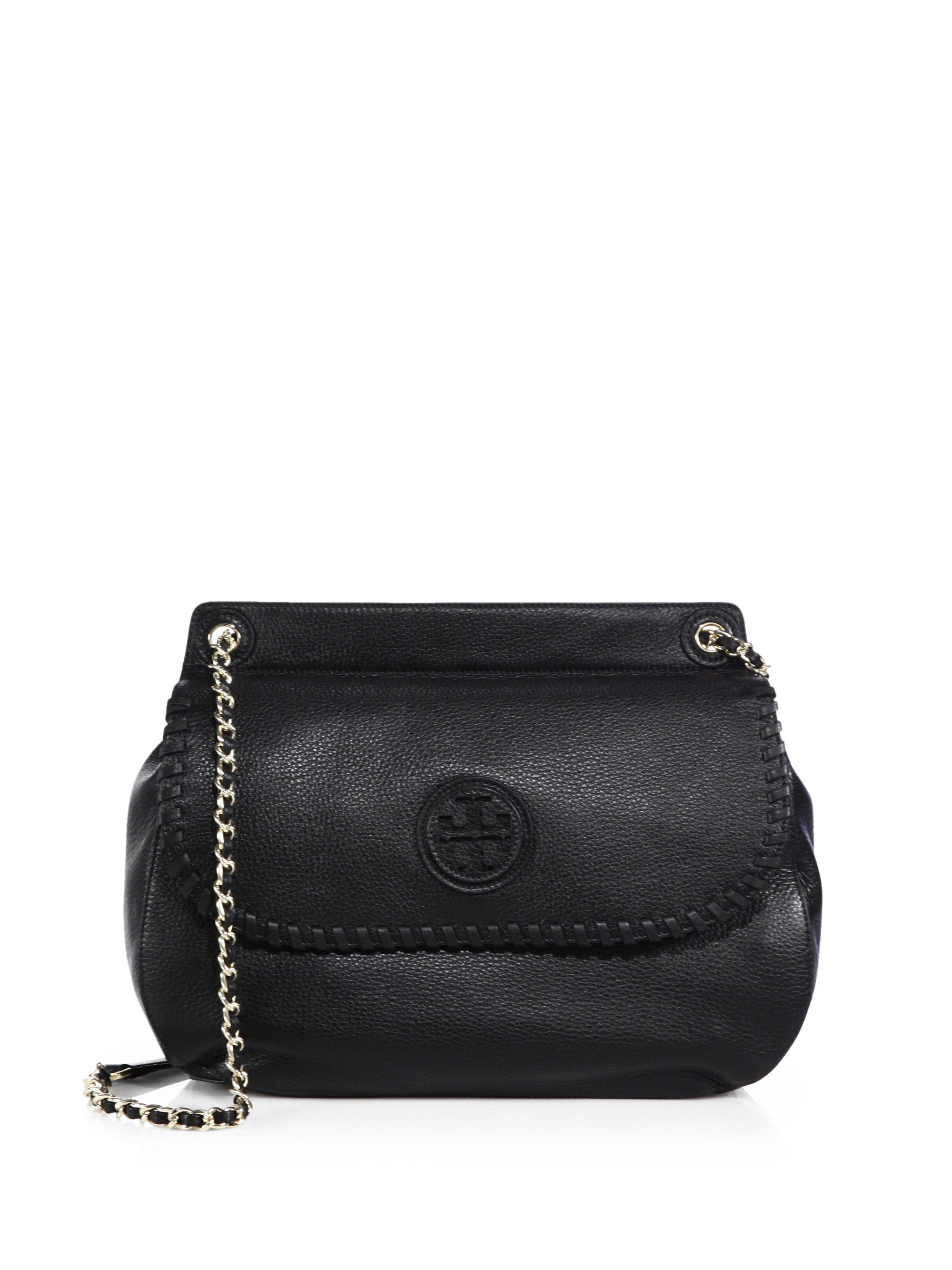 49c41eb3552a Tory Burch Marion Saddle Bag in Black