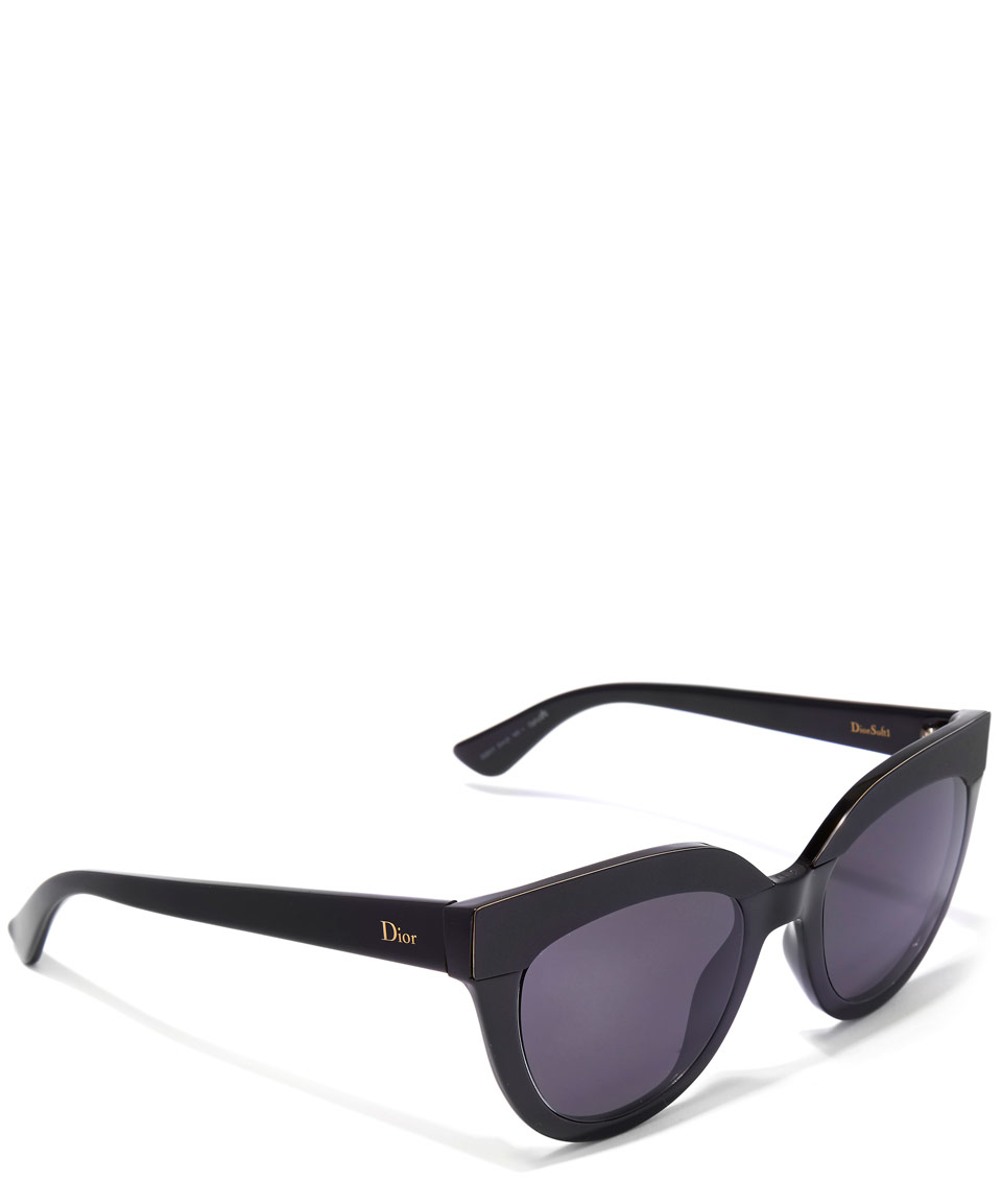 cfdfdbbeb0 Dior Black Soft 1 Sunglasses in Black - Lyst