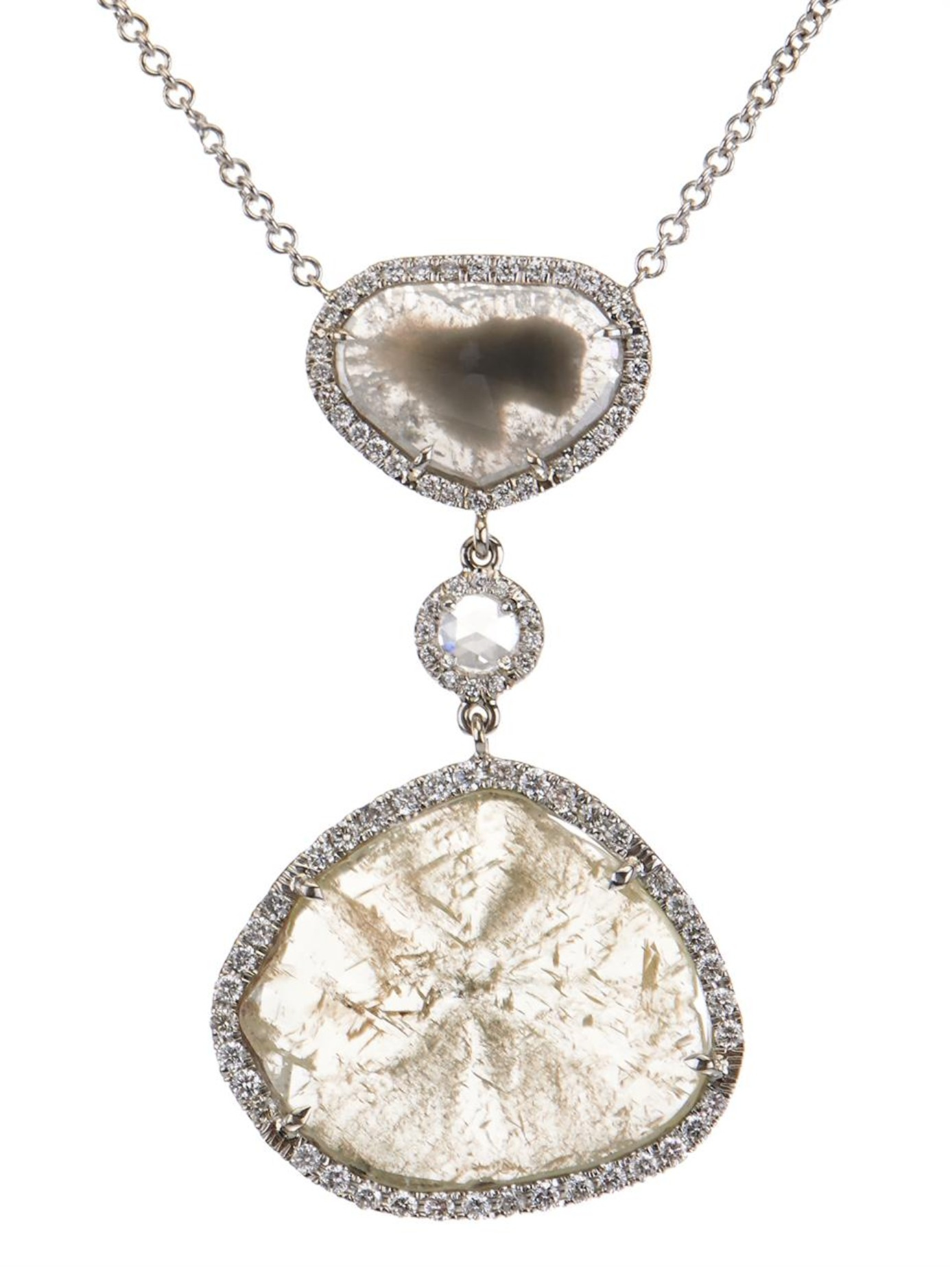 18kt gold, diamond & opal necklace Susan Foster