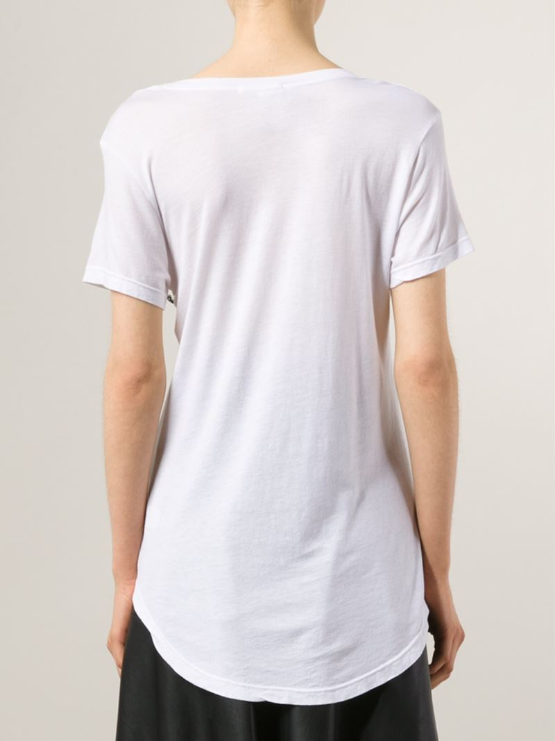 Lyst cotton citizen scoop neck t shirt in white for Cotton white t shirt