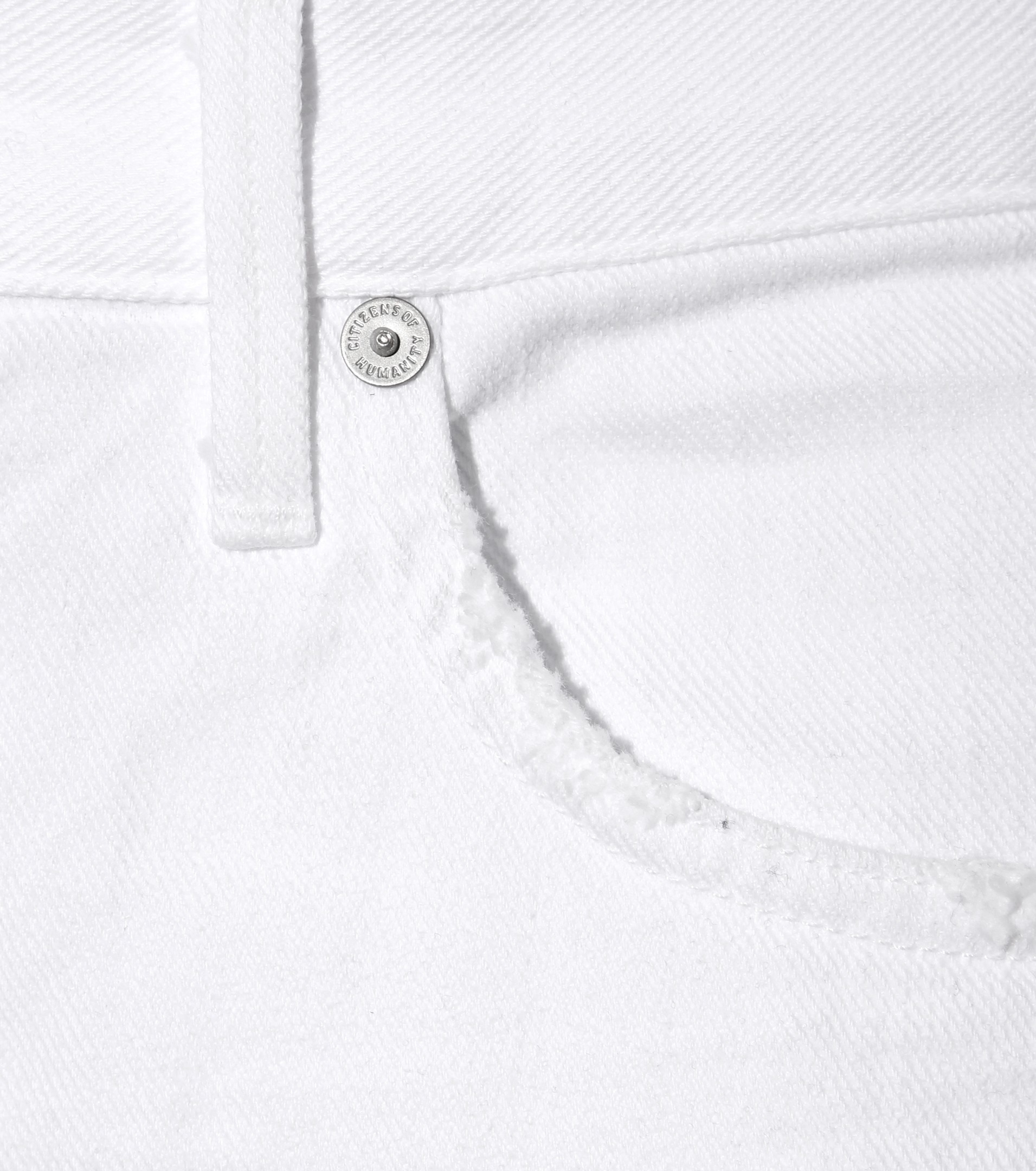 Citizens of Humanity Corey Slouchy Slim Jeans in White