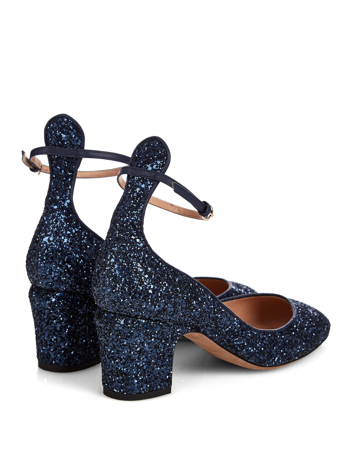 5c68b6cde162 Valentino Tango Glitter Pumps in Blue - Lyst
