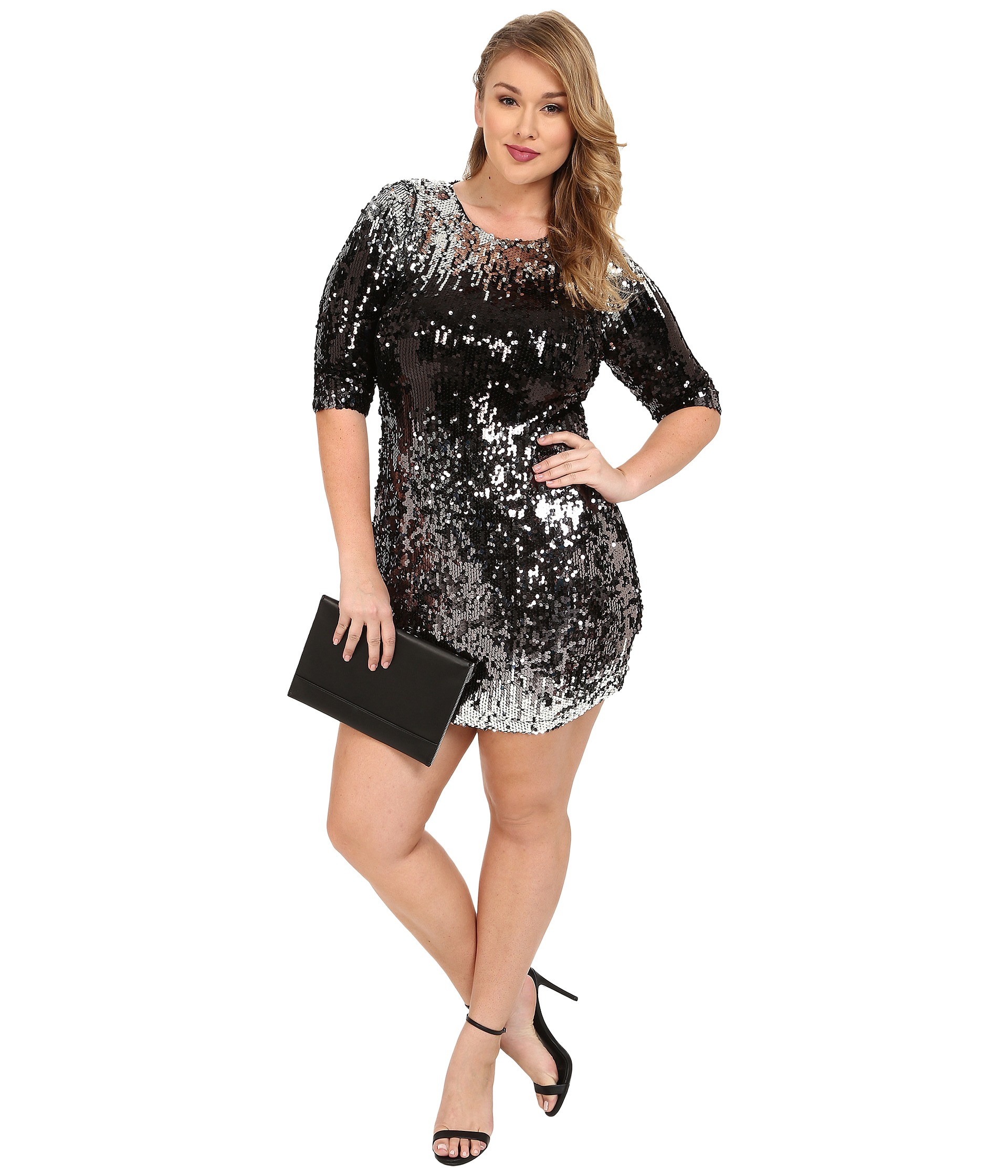 Bb dakota Plus Size Gigi Ombre Sequin Dress - Lyst