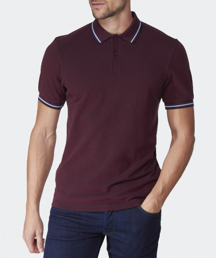 Lyst Fred Perry Slim Fit Twin Tipped Polo Shirt In