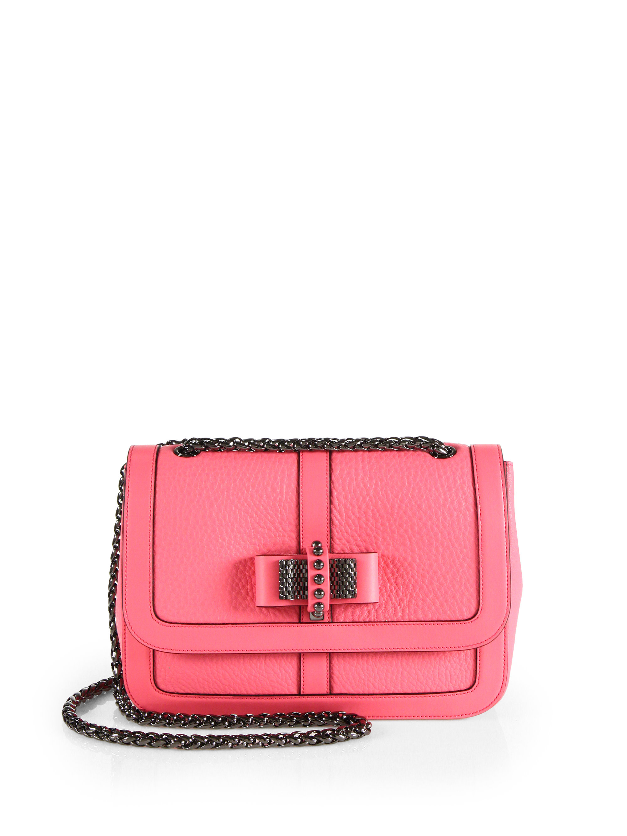 Christian louboutin Sweet Charity Bow-Detail Leather Flap Bag in .