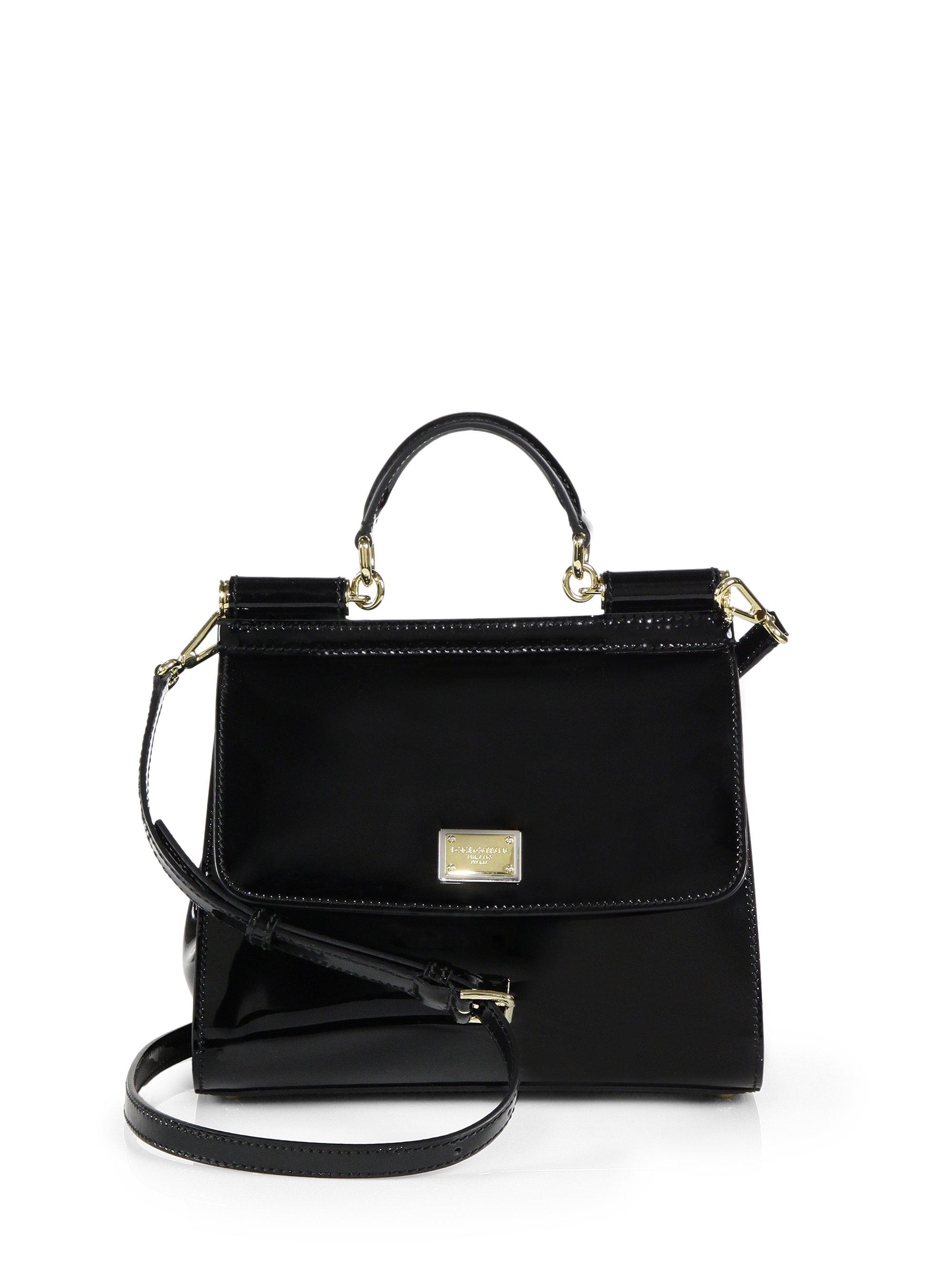 Black patent leather sicily bag 9As2jD1wSc