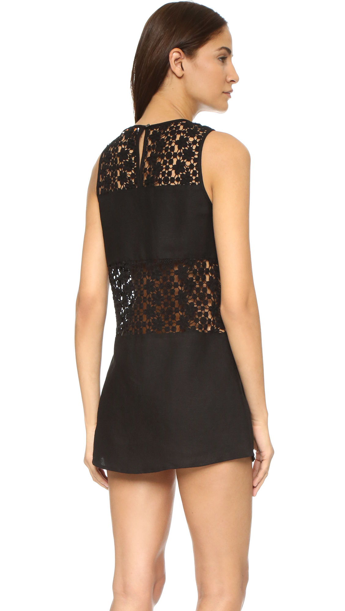 Tory Burch A Line Cover Up Dress In Black