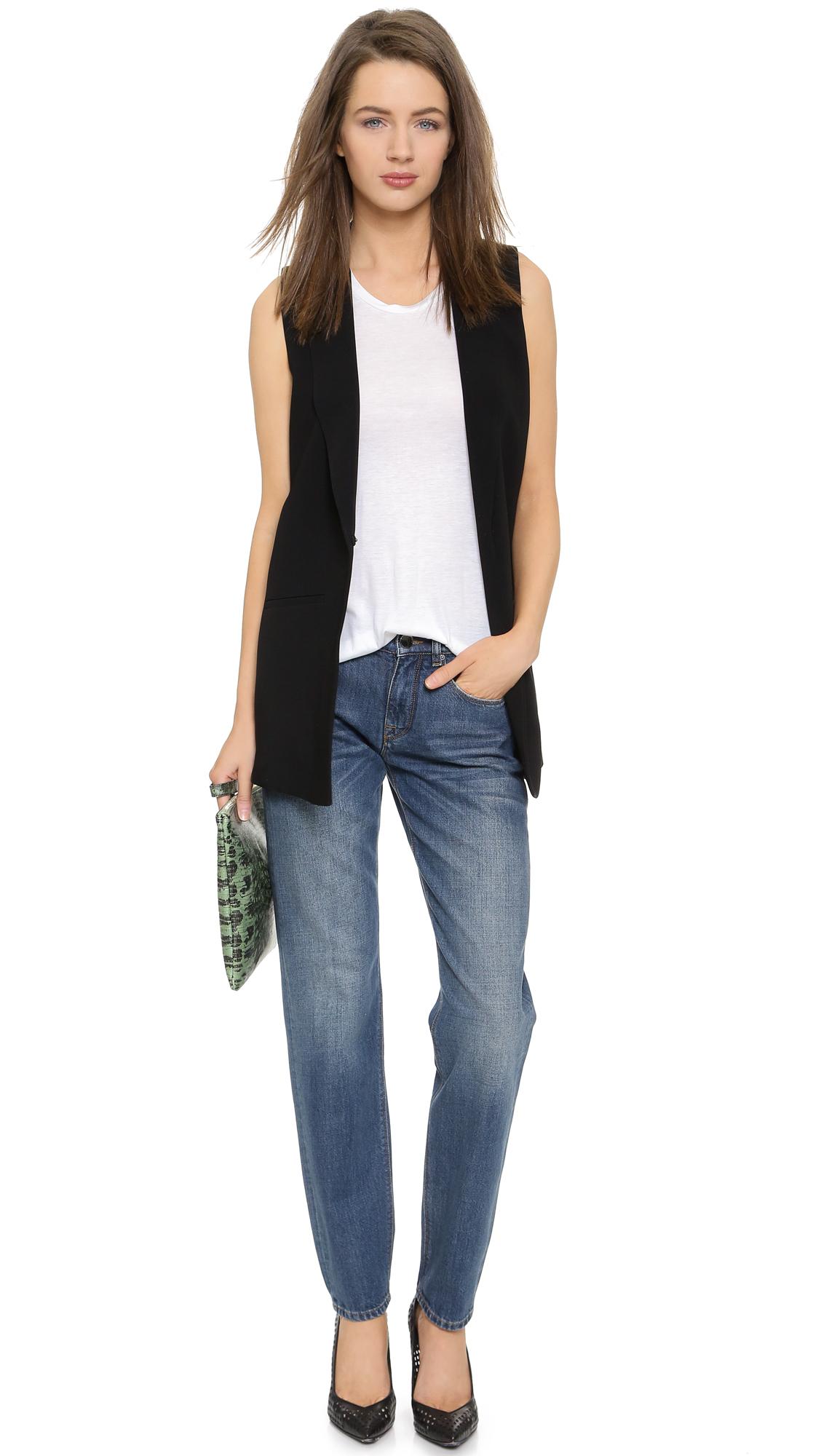 Victoria Beckham Boyfriend Jeans - Wash 12 in Blue
