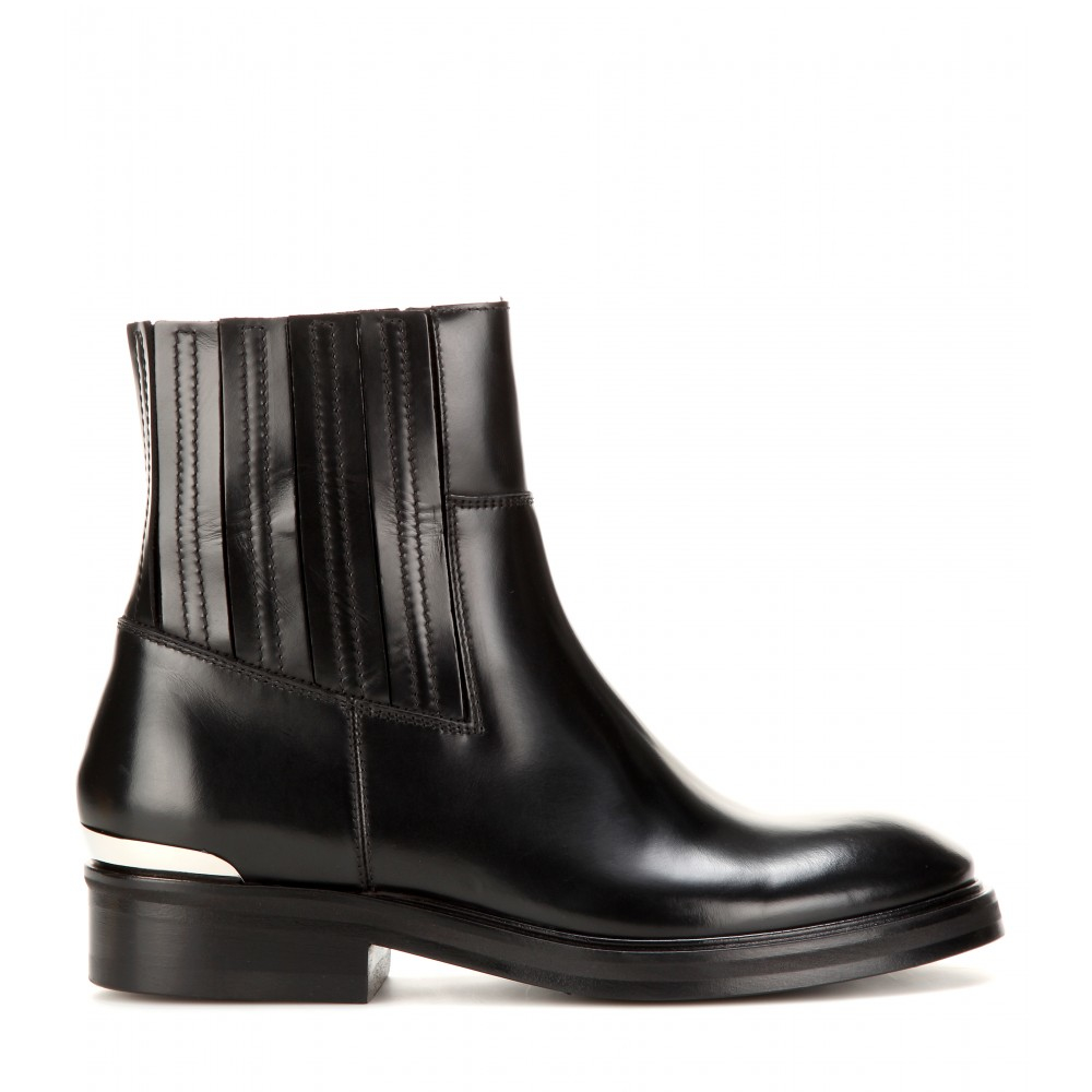 acne studios brass leather ankle boots in black lyst. Black Bedroom Furniture Sets. Home Design Ideas