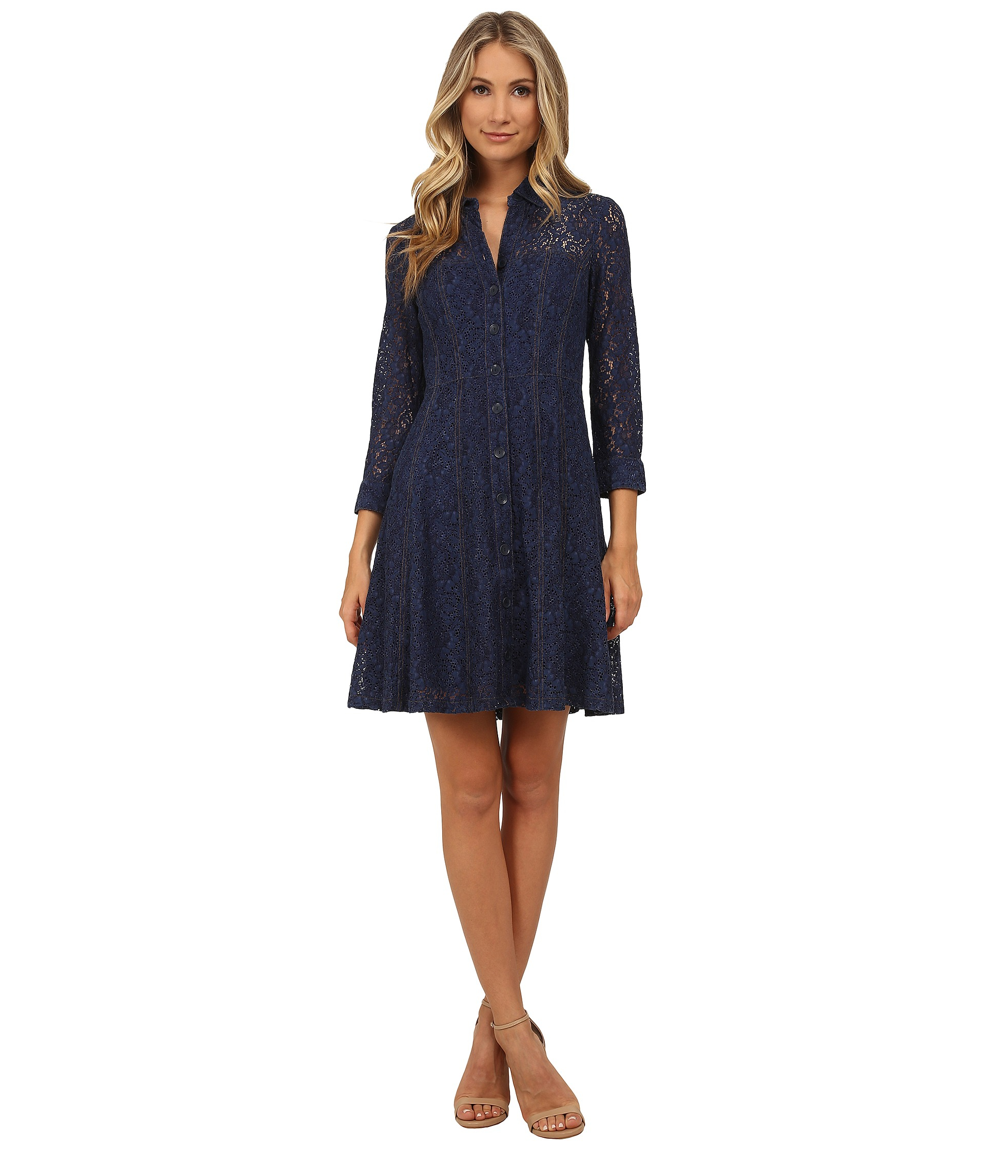 Nanette lepore Lace Fever Dress in Blue  Lyst