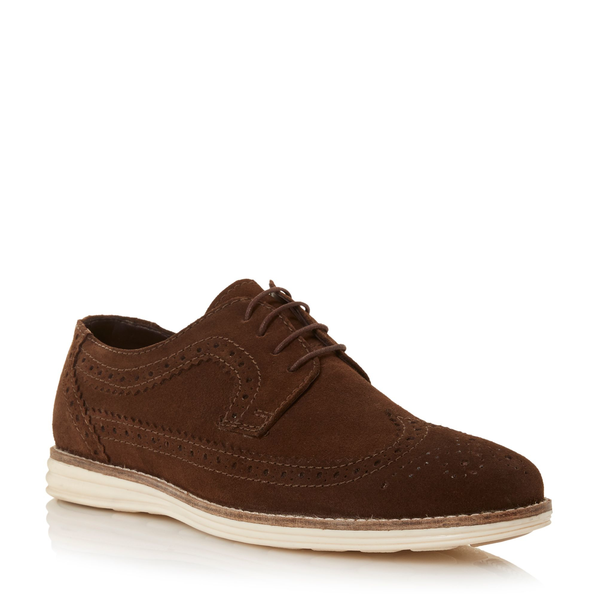 linea brown blakes wedge sole brogue shoes for lyst