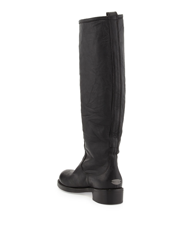 jimmy choo doreen flat zip knee boot in black lyst