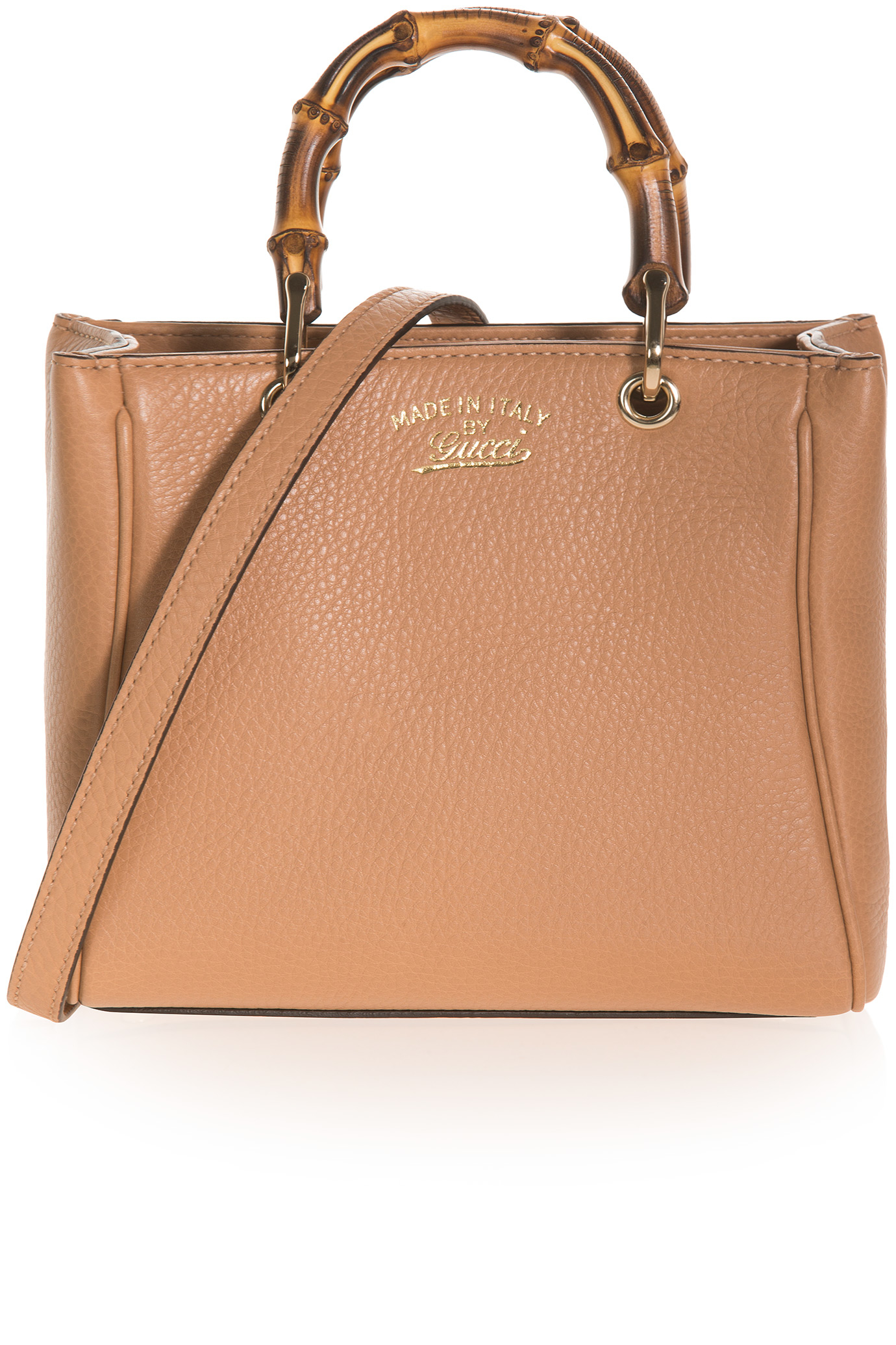 Gucci Mini Bamboo Shoulder Bag in Brown