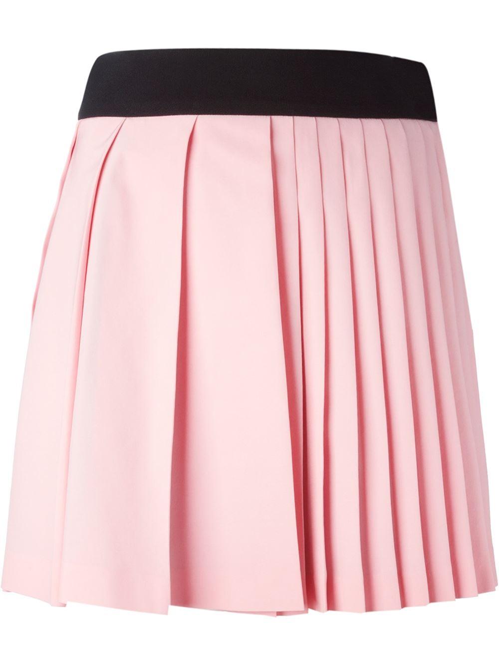 fausto puglisi pleated mini skirt in pink pink purple