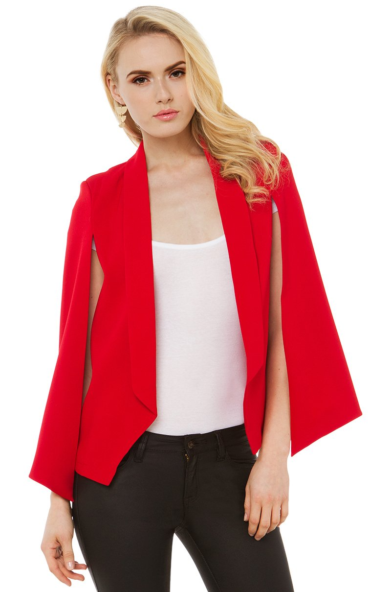Akira Red Cape Blazer in Red | Lyst