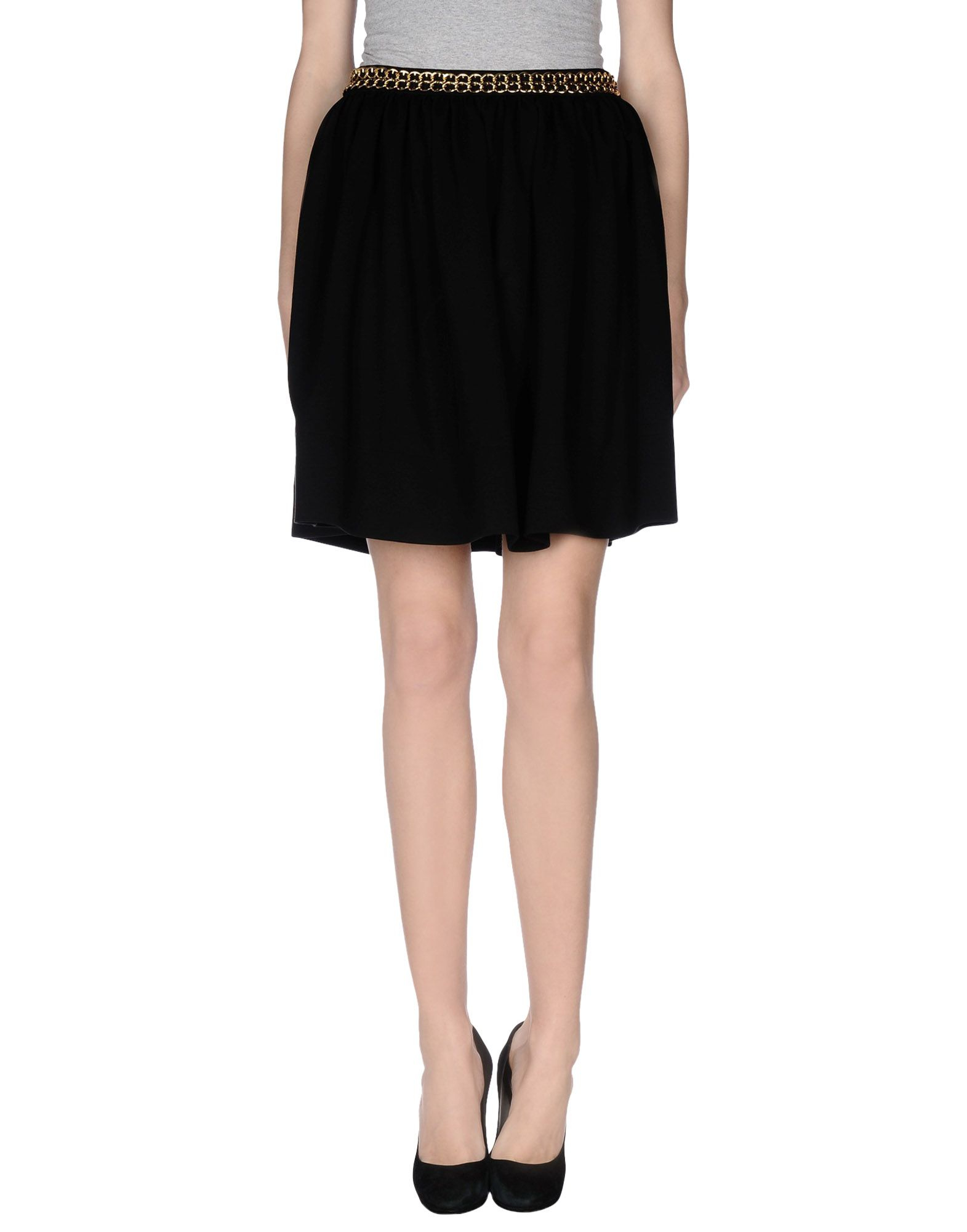 moschino couture knee length skirt in black lyst