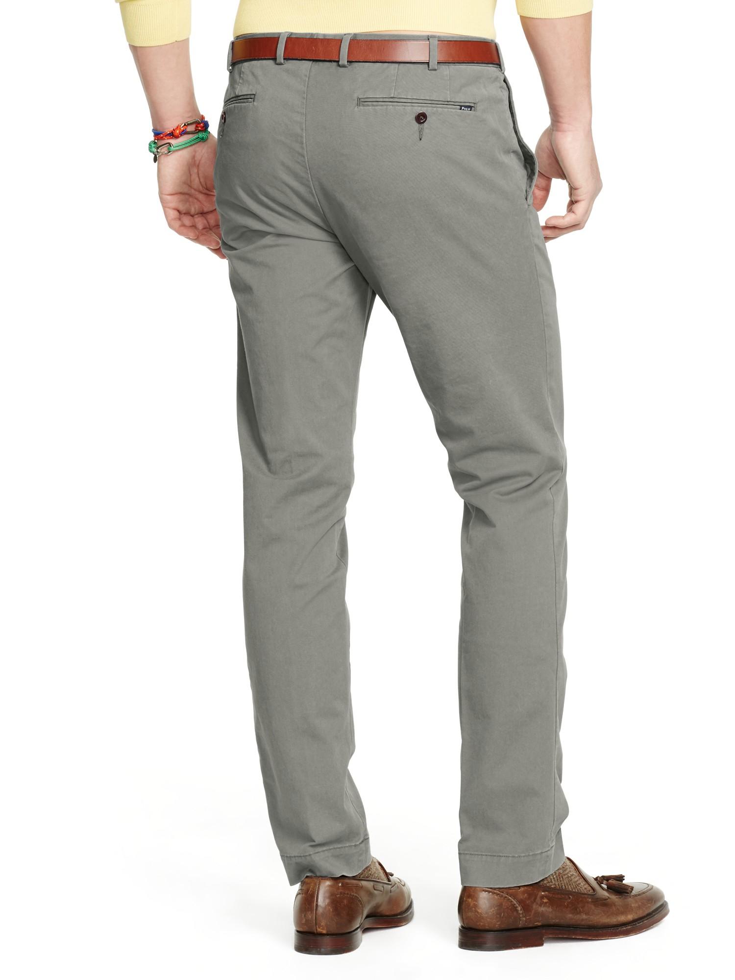 d930dcdb3357 Ralph Lauren Polo Slim Fit Hudson Trousers in Gray for Men - Lyst