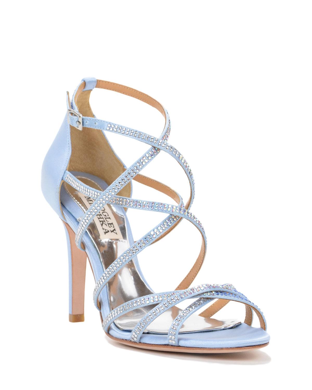badgley mischka light blue meghan strappy evening shoe blue product 2. Black Bedroom Furniture Sets. Home Design Ideas