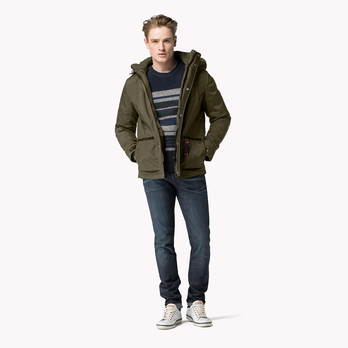 tommy hilfiger hooded parka in green for men olive night pt lyst. Black Bedroom Furniture Sets. Home Design Ideas