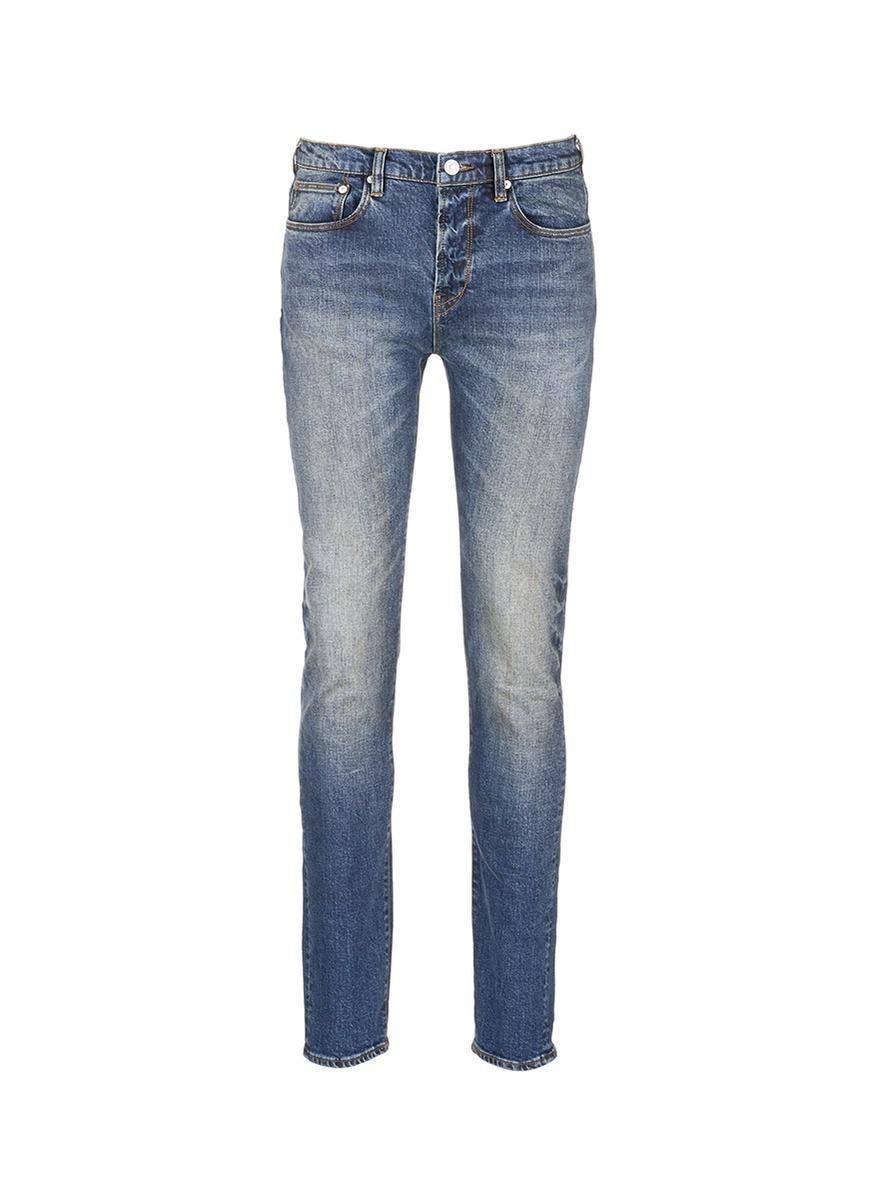 paul smith dark wash slim fit jeans in blue for men lyst. Black Bedroom Furniture Sets. Home Design Ideas