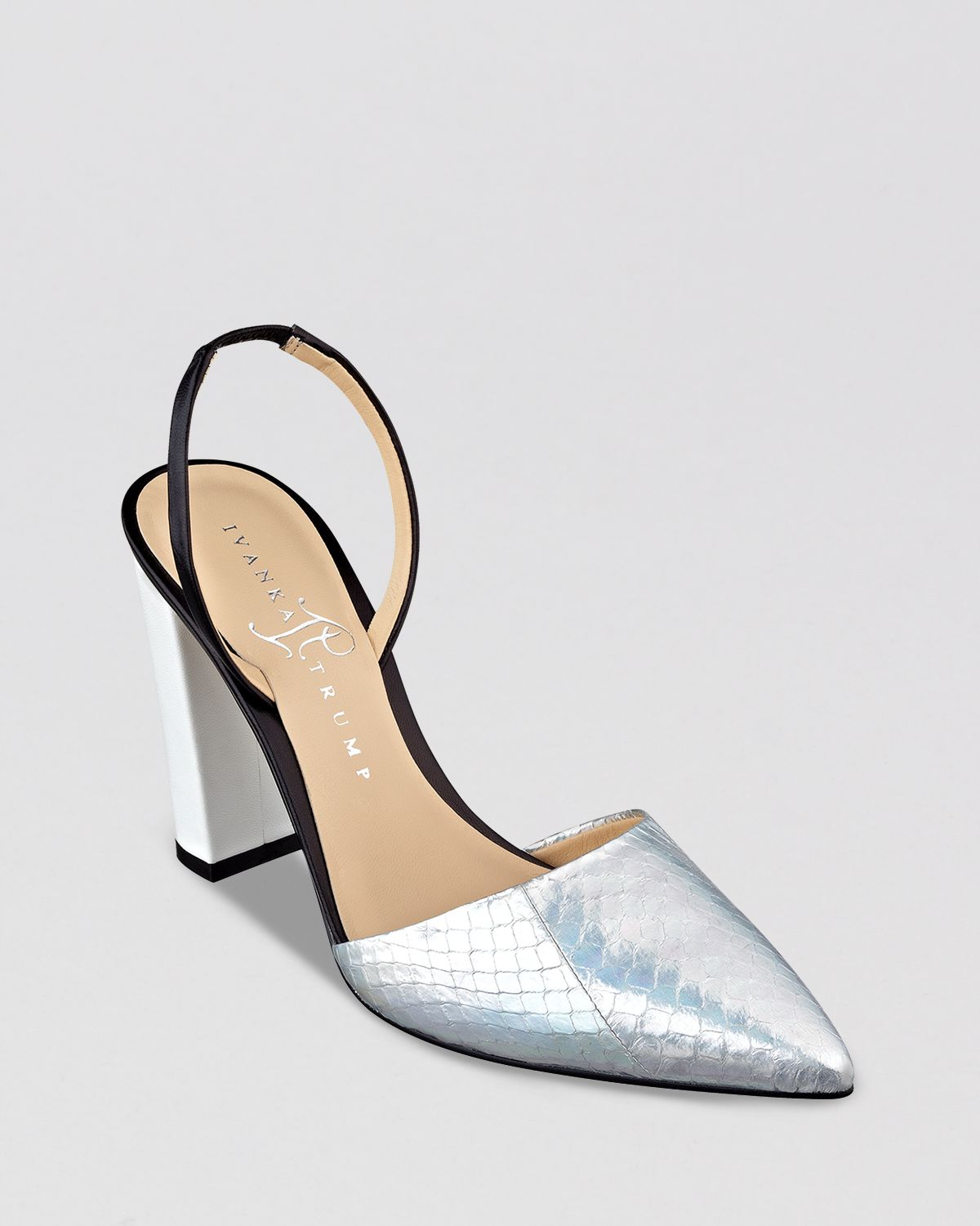 68ab9a9c4381 Lyst - Ivanka Trump Pointed Toe Pumps Cami Slingback High Heel in ...