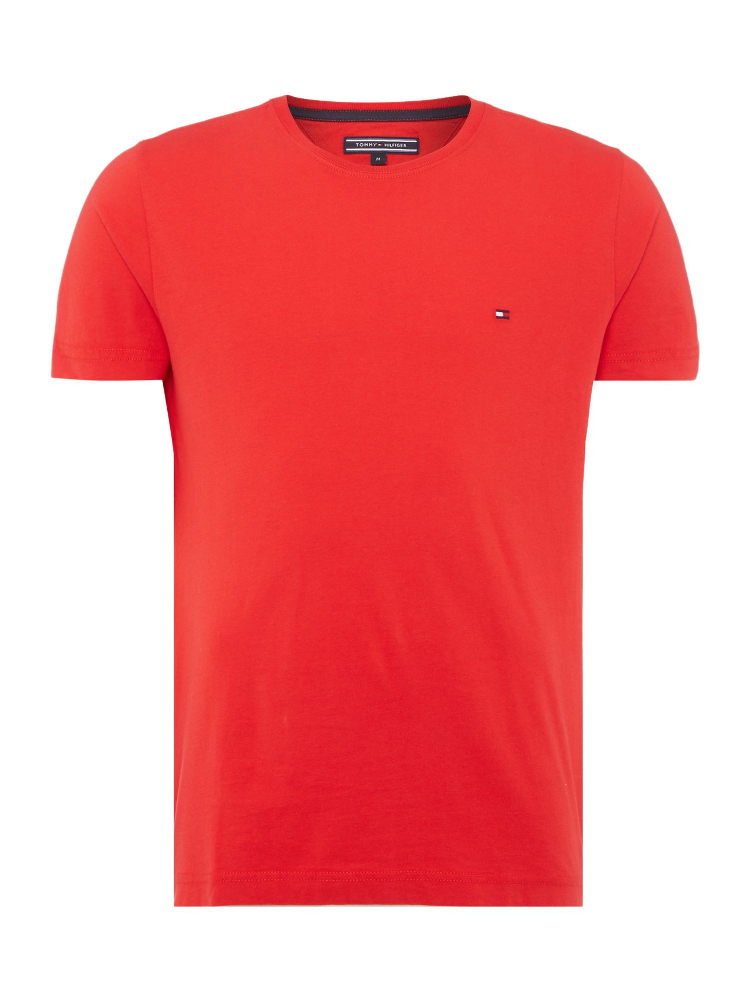 tommy hilfiger flag plain crew neck regular fit t shirt in red for men. Black Bedroom Furniture Sets. Home Design Ideas