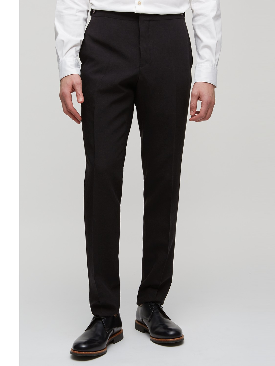 Jigsaw Wool Bloomsbury Tailored Fit Suit Trousers in Black for Men