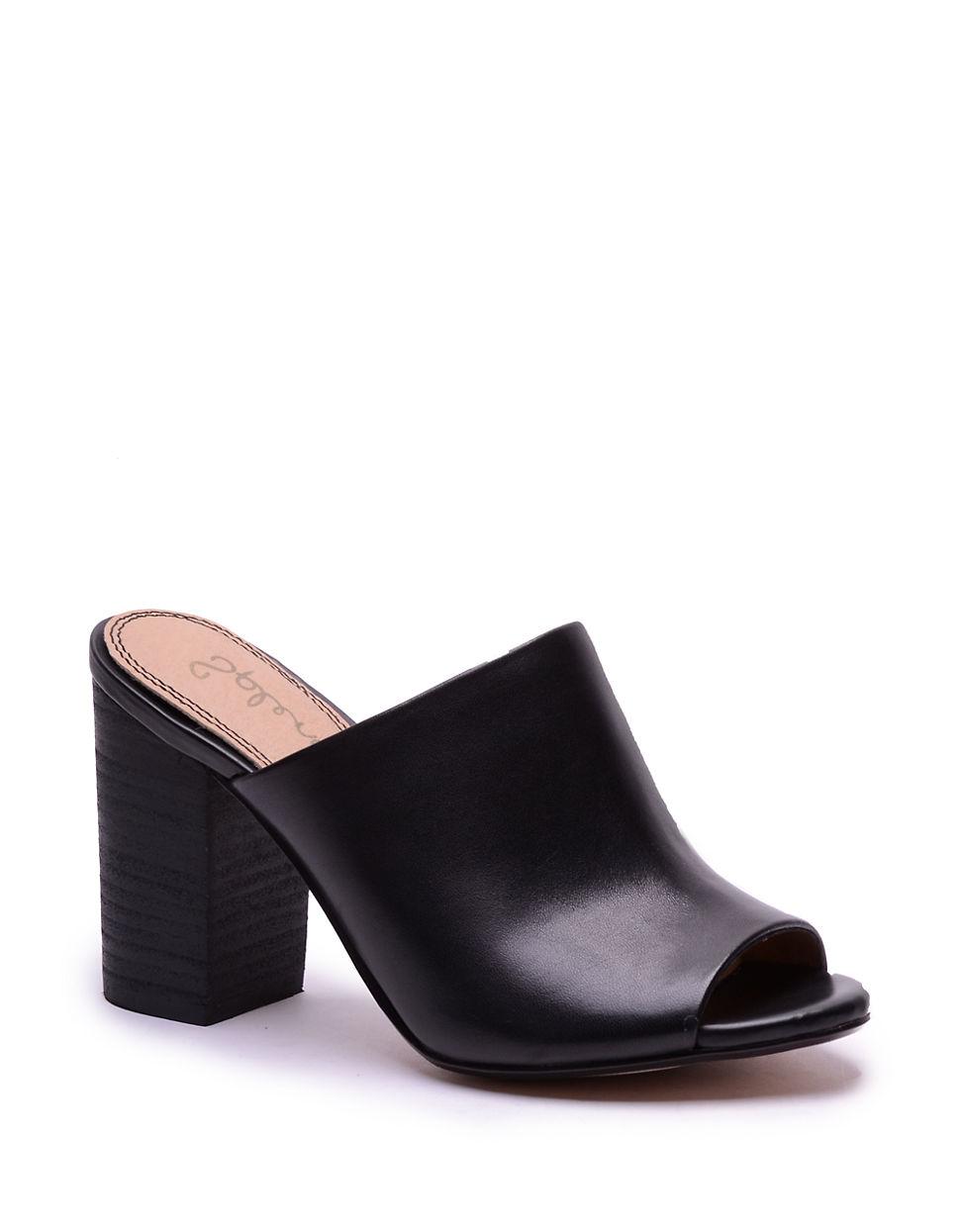 1cb585801db Splendid Black Leather Mules
