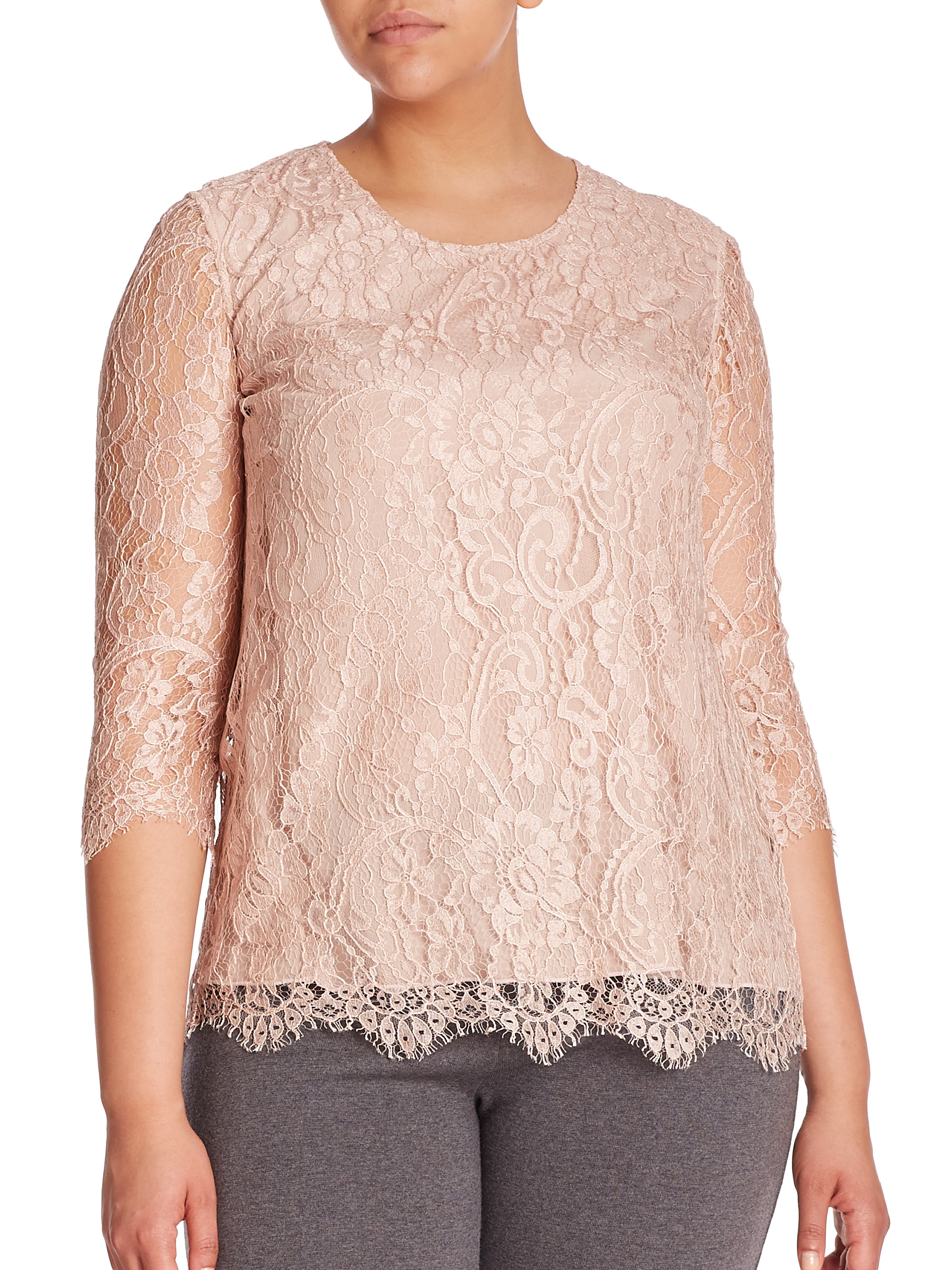 Lyst - Stizzoli Lace Top in Pink